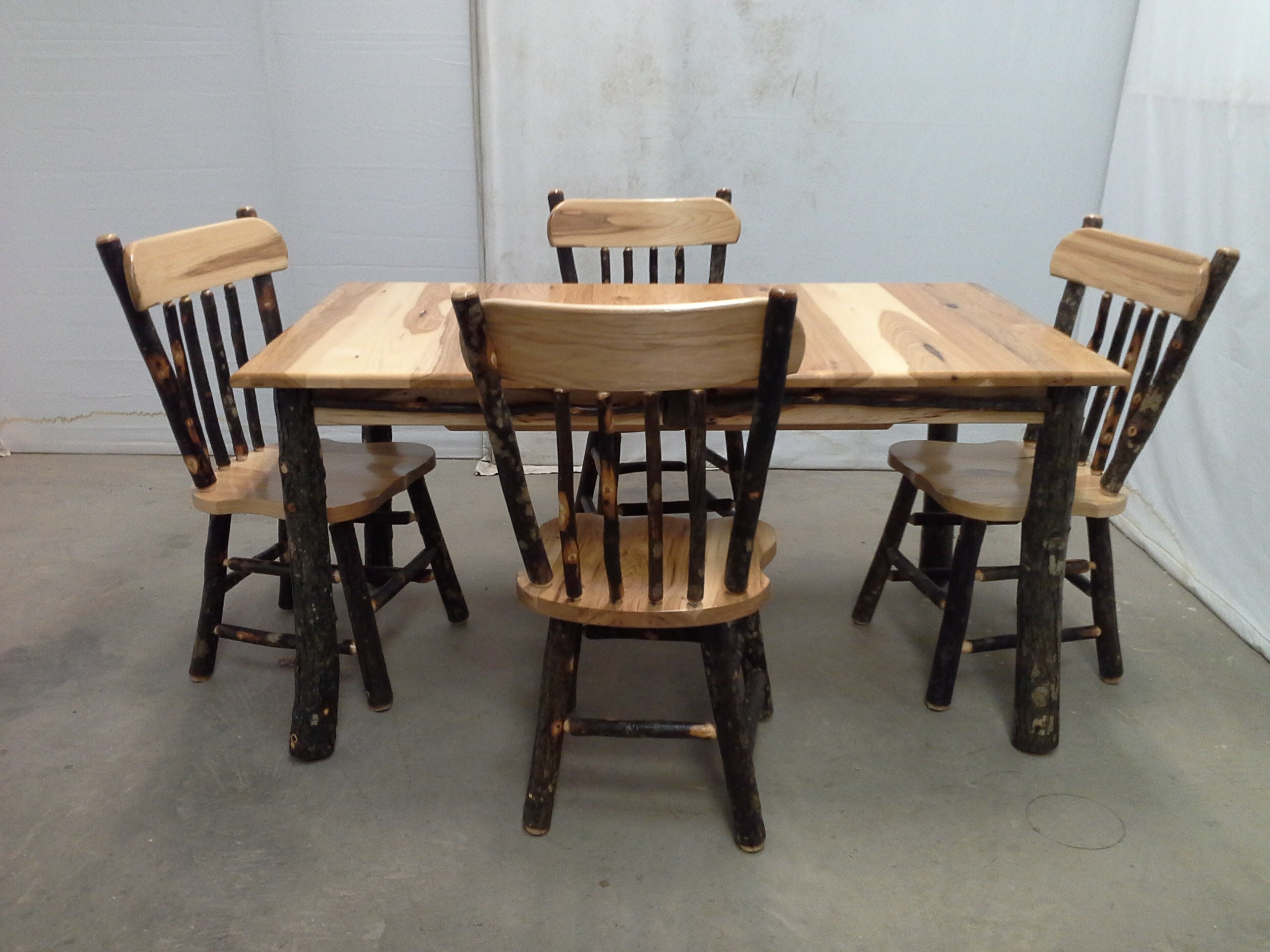 Rustic Furniture For Home Or Cabin Regarding 2017 Reinert 5 Piece Dining Sets (View 20 of 20)