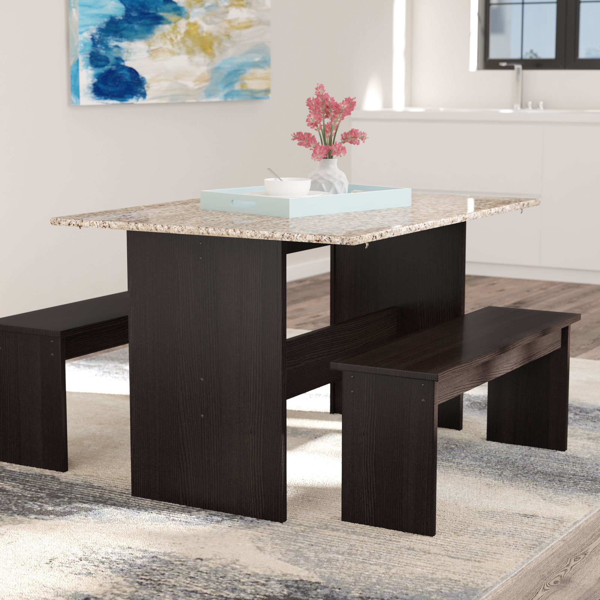 Ryker 3 Piece Dining Set For Current Ryker 3 Piece Dining Sets (Photo 1 of 20)