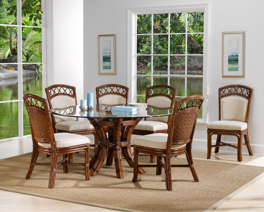Saint Croix 8 Piece Dining Set With 6 Side Chairs From Classic Rattan Model 1460 Set2 For Most Recently Released Saintcroix 3 Piece Dining Sets (View 4 of 20)