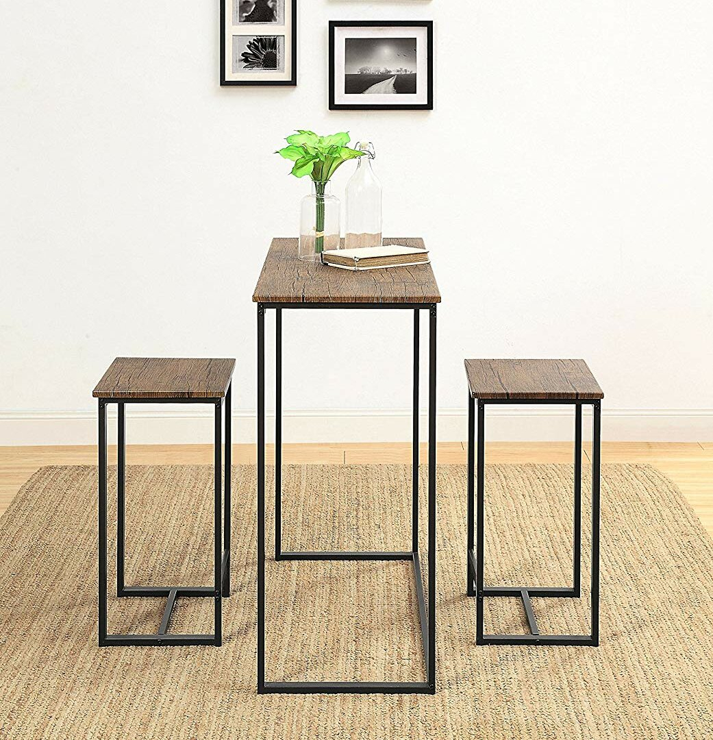 Saintcroix 3 Piece Dining Set In Most Popular Valladares 3 Piece Pub Table Sets (View 2 of 20)