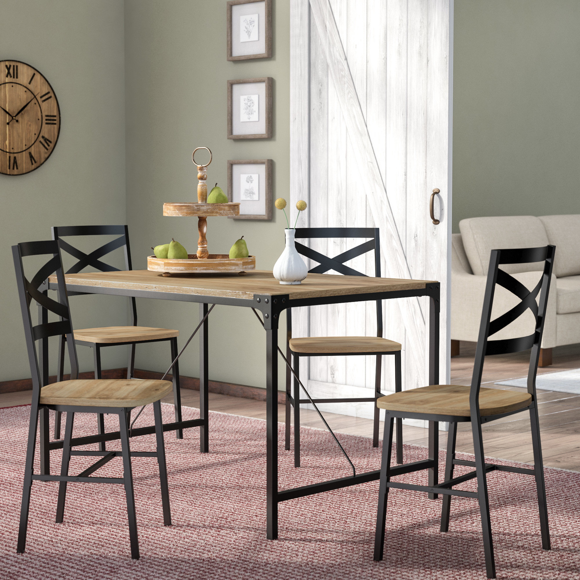 Samantha 5 Piece Dining Set With Best And Newest Middleport 5 Piece Dining Sets (View 4 of 20)