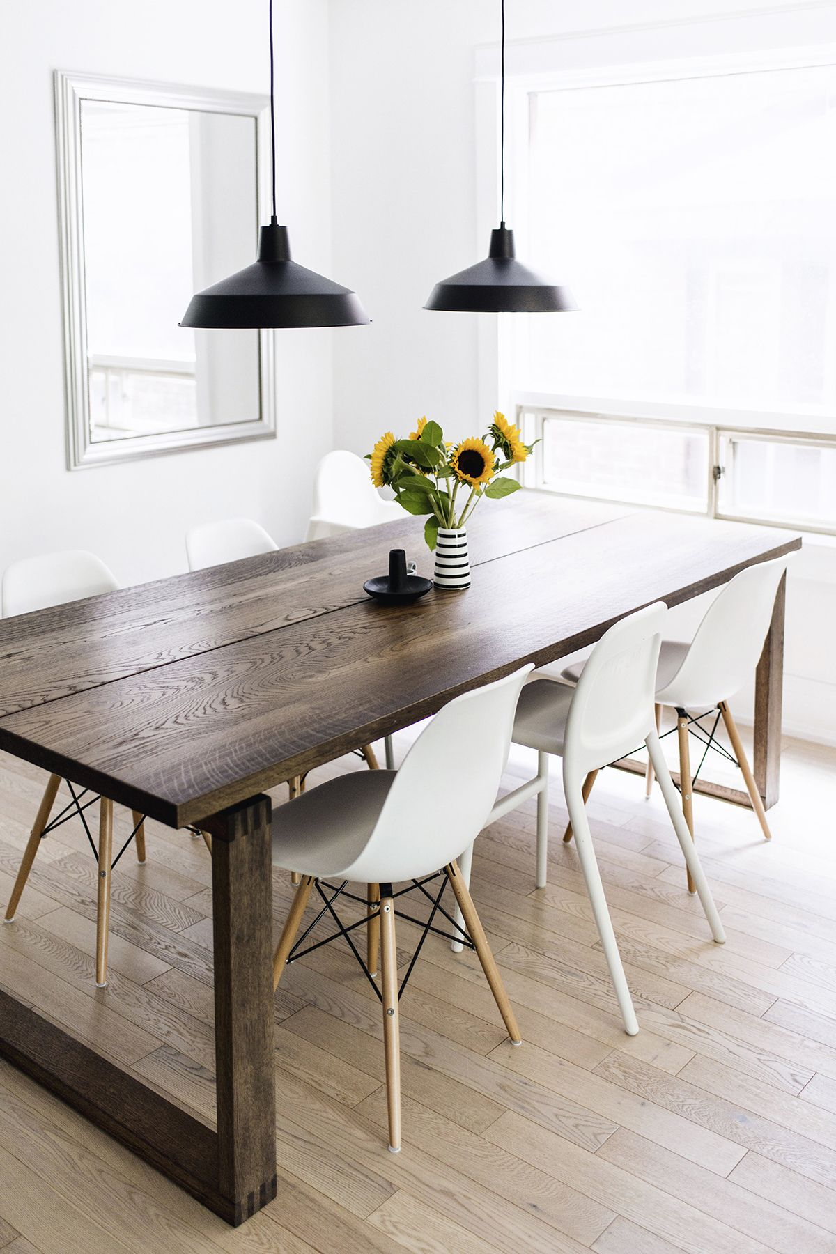 Scandinavian Inspired Dining Room – Mörbylånga Table, Eames Chairs Pertaining To Newest Sundberg 5 Piece Solid Wood Dining Sets (Image 11 of 20)