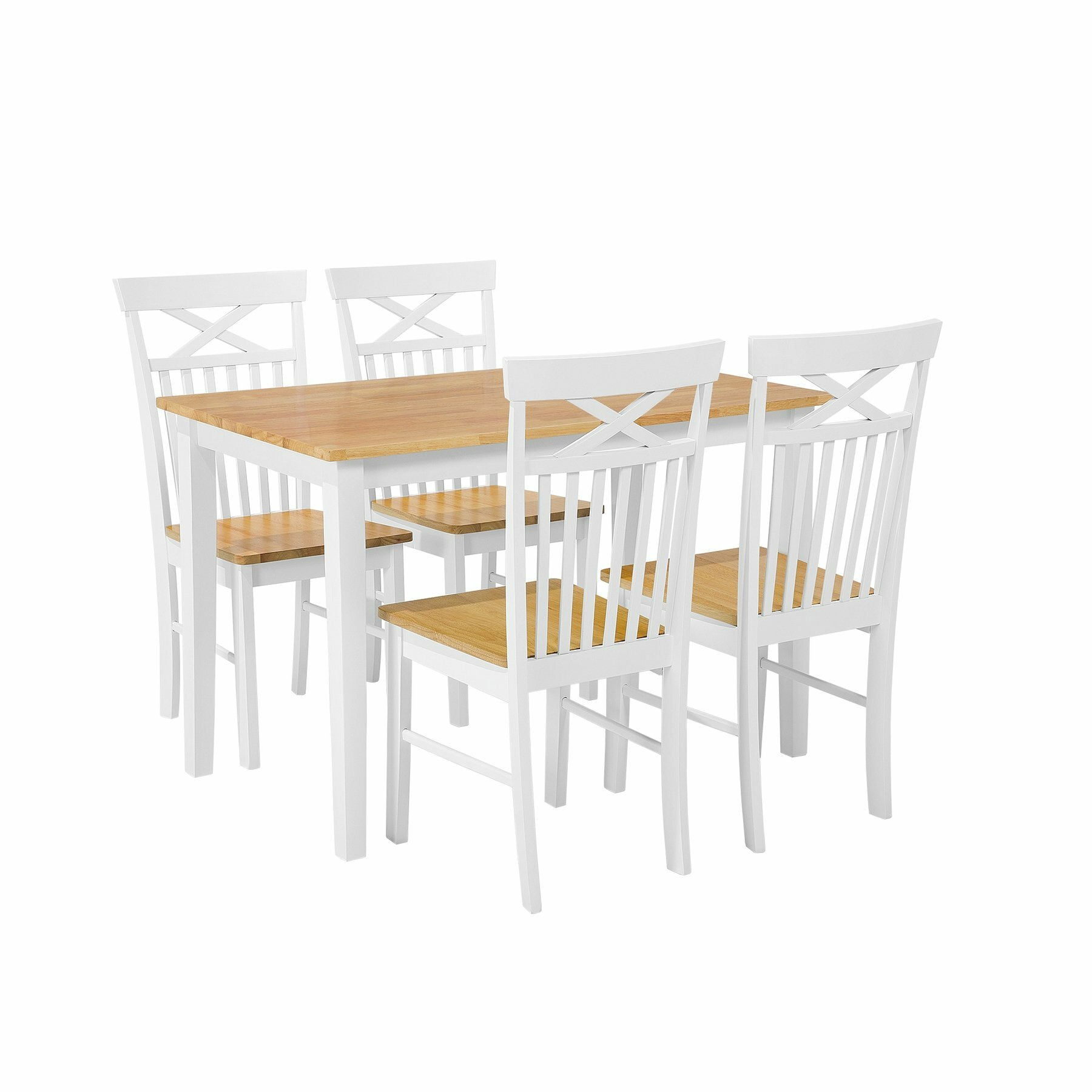 Scurlock 5 Piece Solid Wood Dining Set Within Most Popular Sundberg 5 Piece Solid Wood Dining Sets (Image 12 of 20)