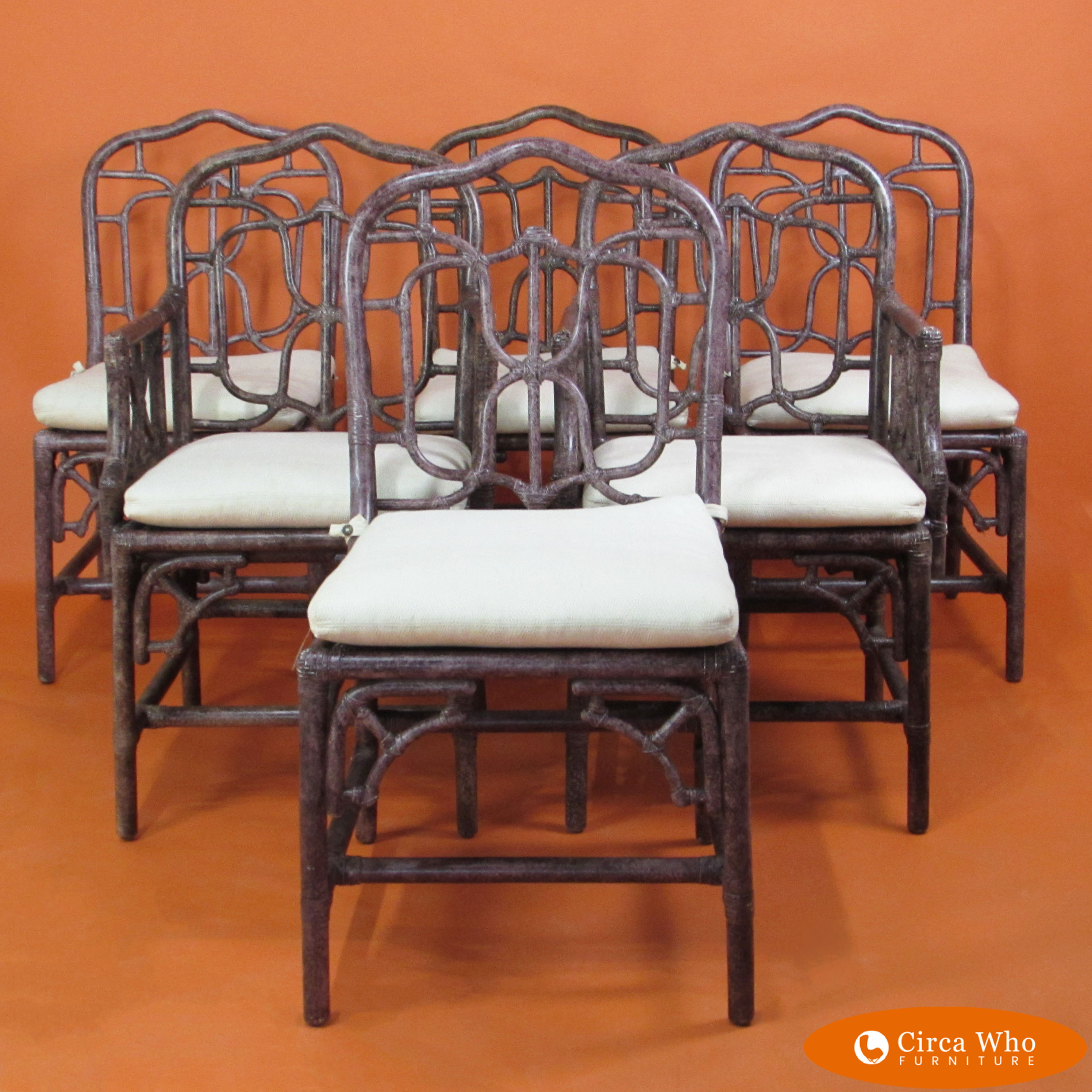 Set Of 6 Rattan Dining Chairs Inside Best And Newest Northwoods 3 Piece Dining Sets (View 12 of 20)