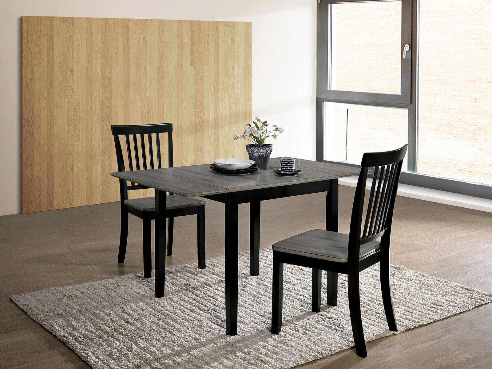 Shala 3 Piece Drop Leaf Dining Set In Most Popular Hanska Wooden 5 Piece Counter Height Dining Table Sets (Set Of 5) (View 11 of 20)