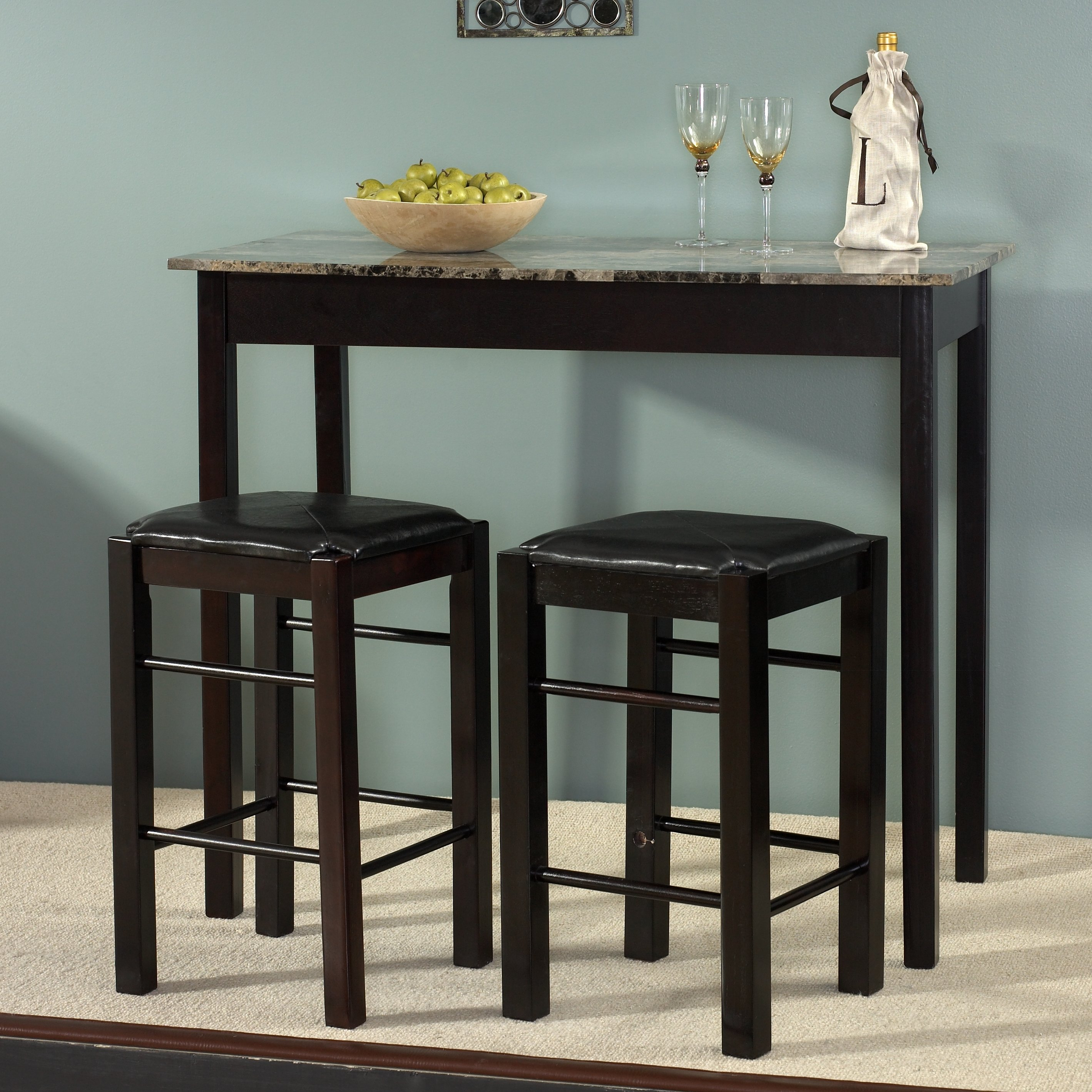 Sheetz 3 Piece Counter Height Dining Set In Most Current Tenney 3 Piece Counter Height Dining Sets (View 4 of 20)