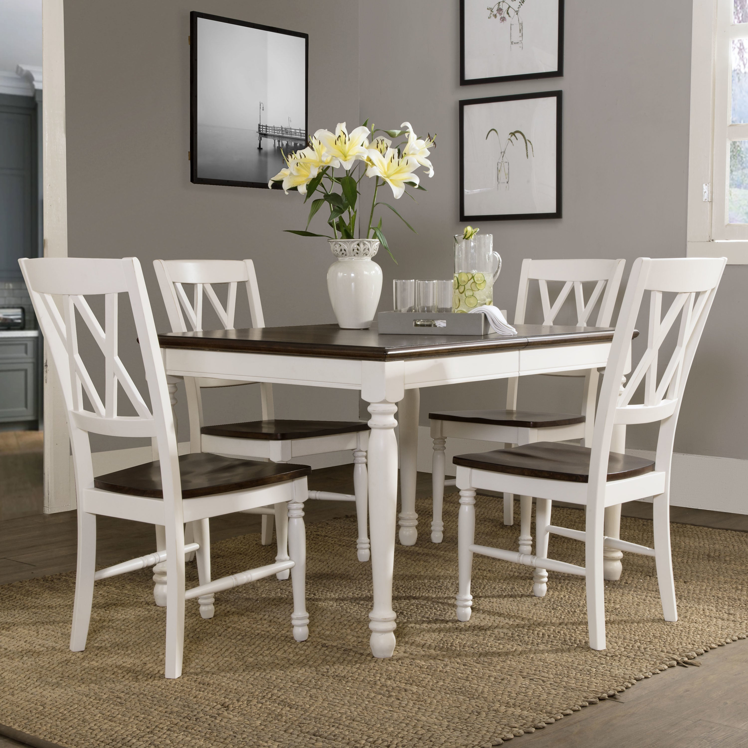 Shelby 5 Piece White Dining Set Regarding 2017 5 Piece Dining Sets (View 13 of 20)