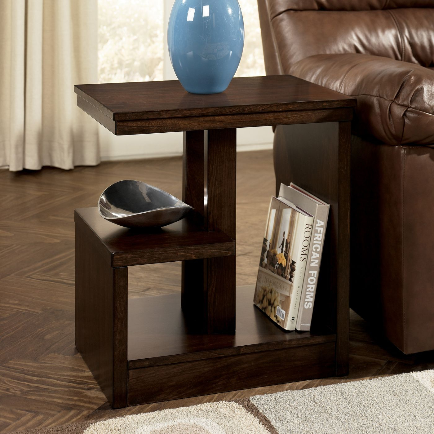 Signature Designashley T670 7 Callum Chairside End Table At Atg Pertaining To Latest Rarick 5 Piece Solid Wood Dining Sets (Set Of 5) (Image 18 of 20)