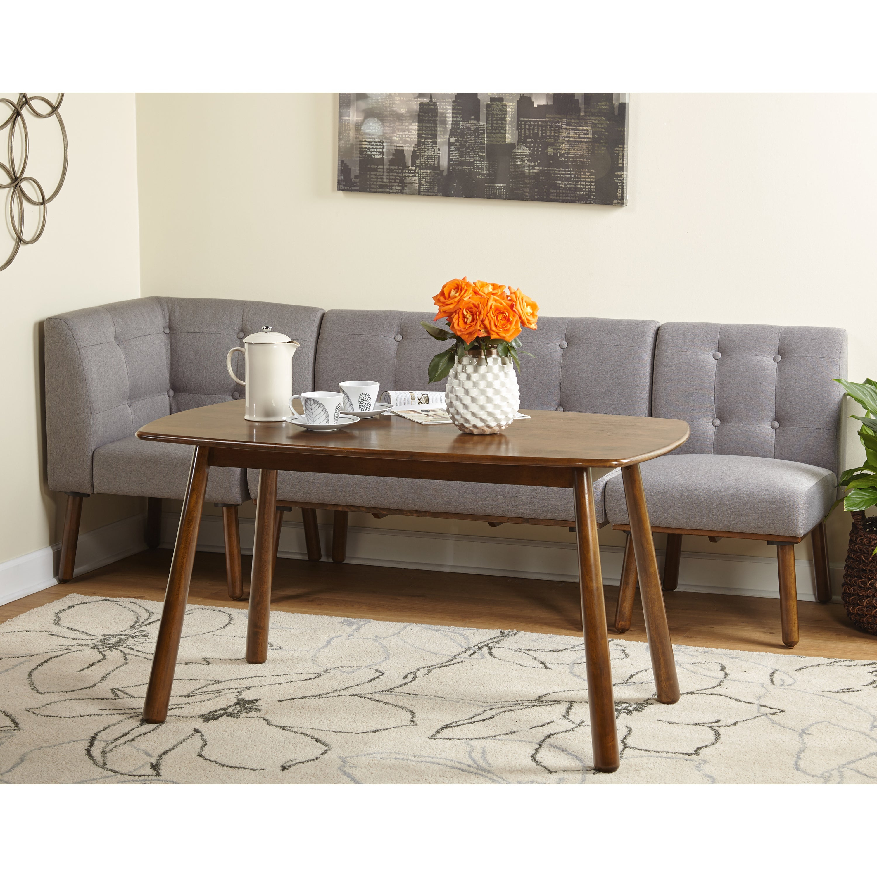 Simple Living 4 Piece Playmate Nook Dining Set In Newest Maloney 3 Piece Breakfast Nook Dining Sets (View 9 of 20)