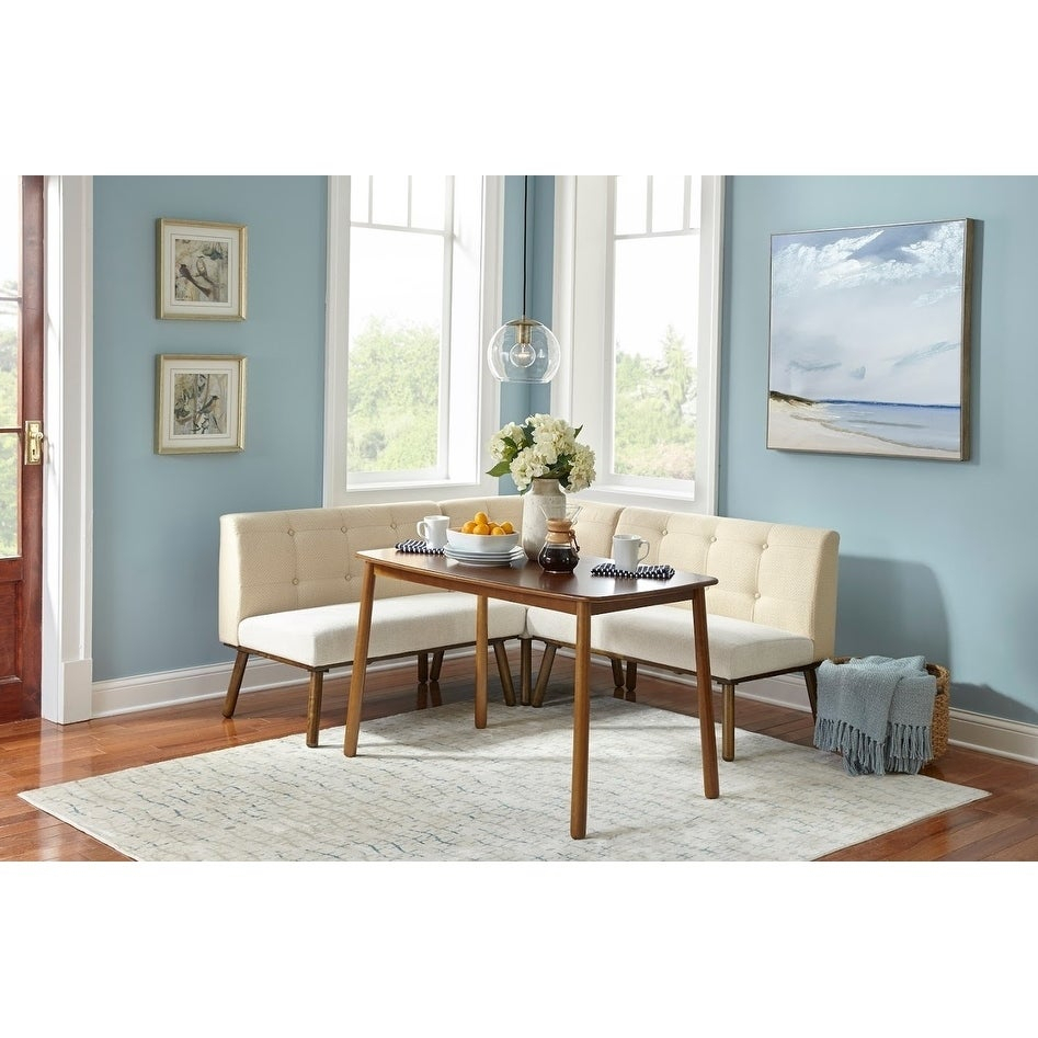 Simple Living 4 Piece Playmate Nook Dining Set With Regard To Most Up To Date Maloney 3 Piece Breakfast Nook Dining Sets (Image 18 of 20)