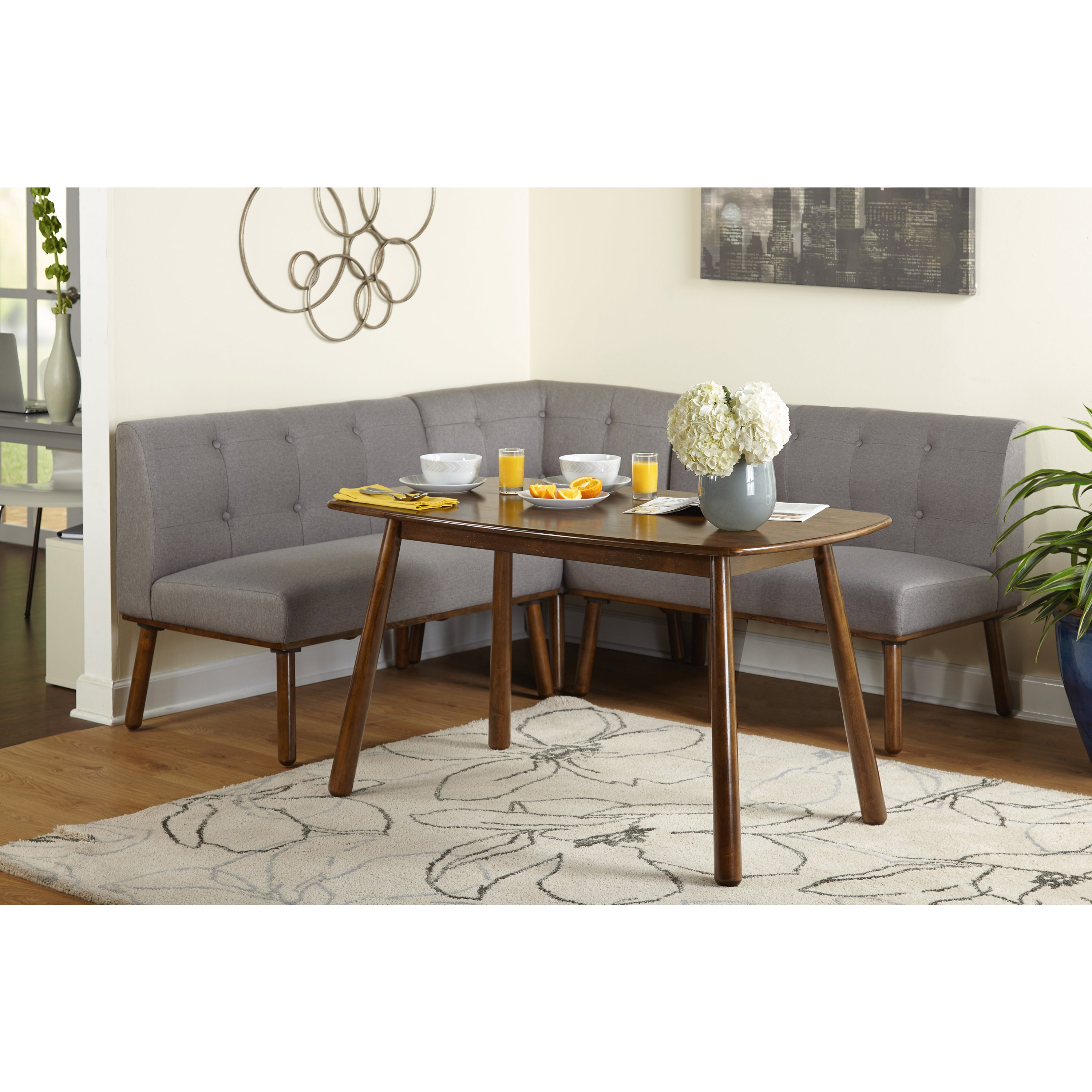 Simple Living 4 Piece Playmate Nook Dining Set Within Most Popular Maloney 3 Piece Breakfast Nook Dining Sets (View 6 of 20)