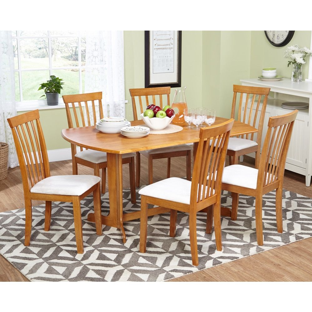 Simple Living 7Pc Benton Dining Set | Court | Dining Room Sets Throughout Latest Tavarez 5 Piece Dining Sets (Image 16 of 20)