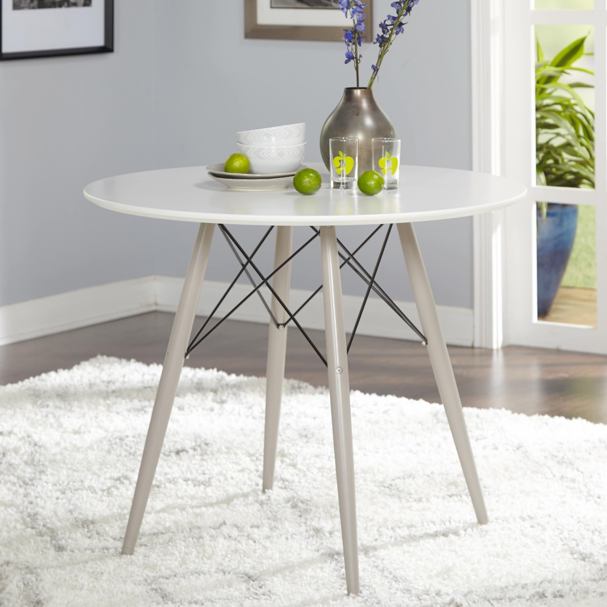 Simple Living Elba Mid Century Dining Table With Current Kaya 3 Piece Dining Sets (Image 19 of 20)