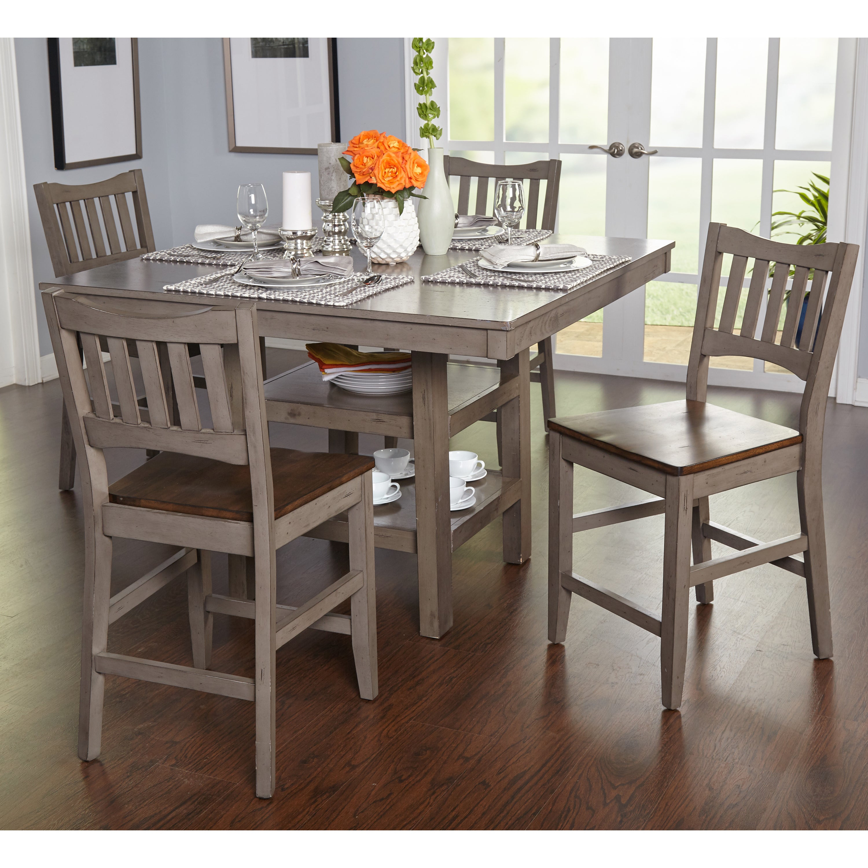 Simple Living Simon Counter Height 5 Piece Dining Set In Current 5 Piece Dining Sets (View 3 of 20)
