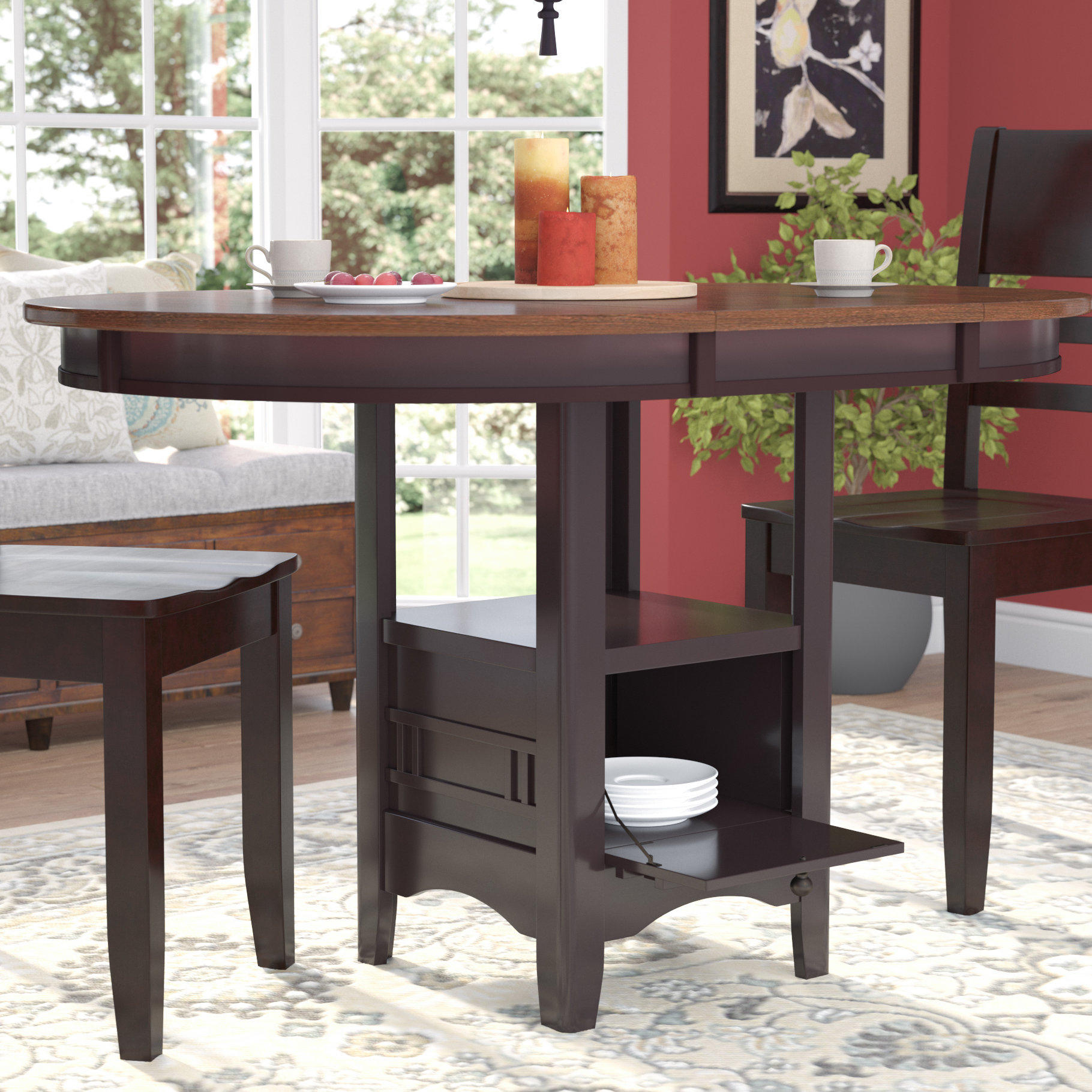 Sinkler Counter Height Drop Leaf Dining Table Inside Most Up To Date Anette 3 Piece Counter Height Dining Sets (View 5 of 20)