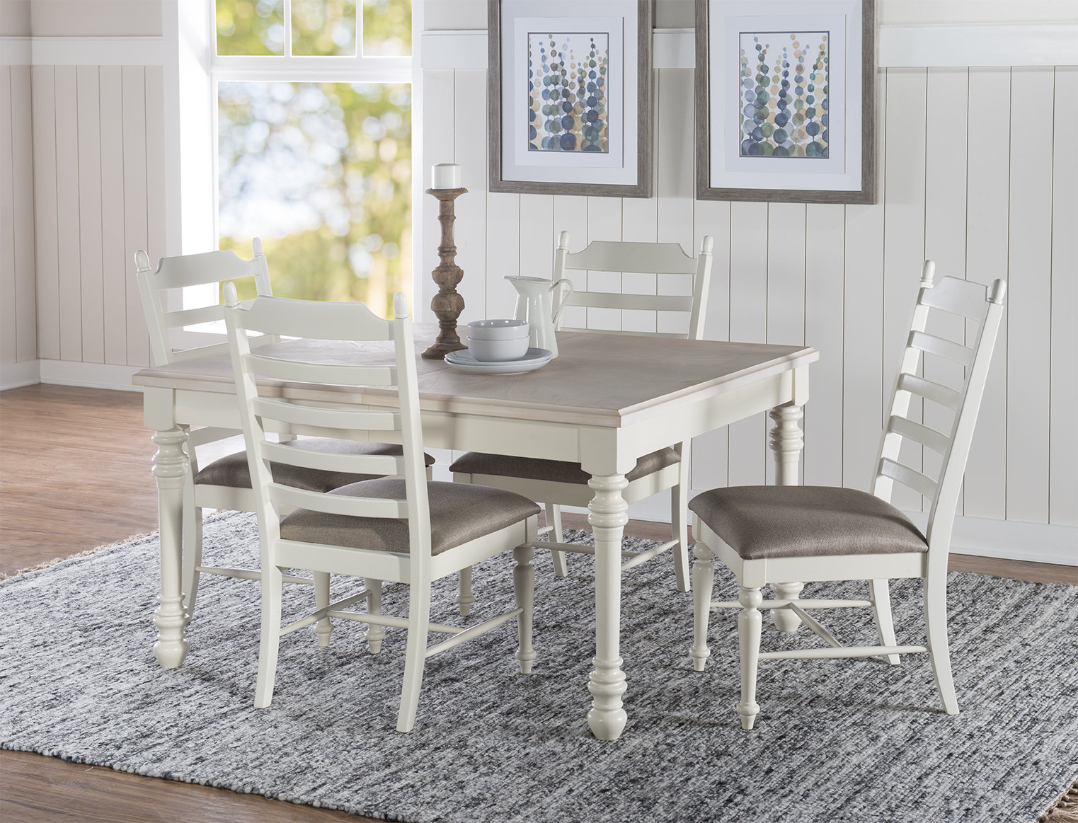 Slater 5 Piece Dining Set Pertaining To Latest Valladares 3 Piece Pub Table Sets (View 7 of 20)