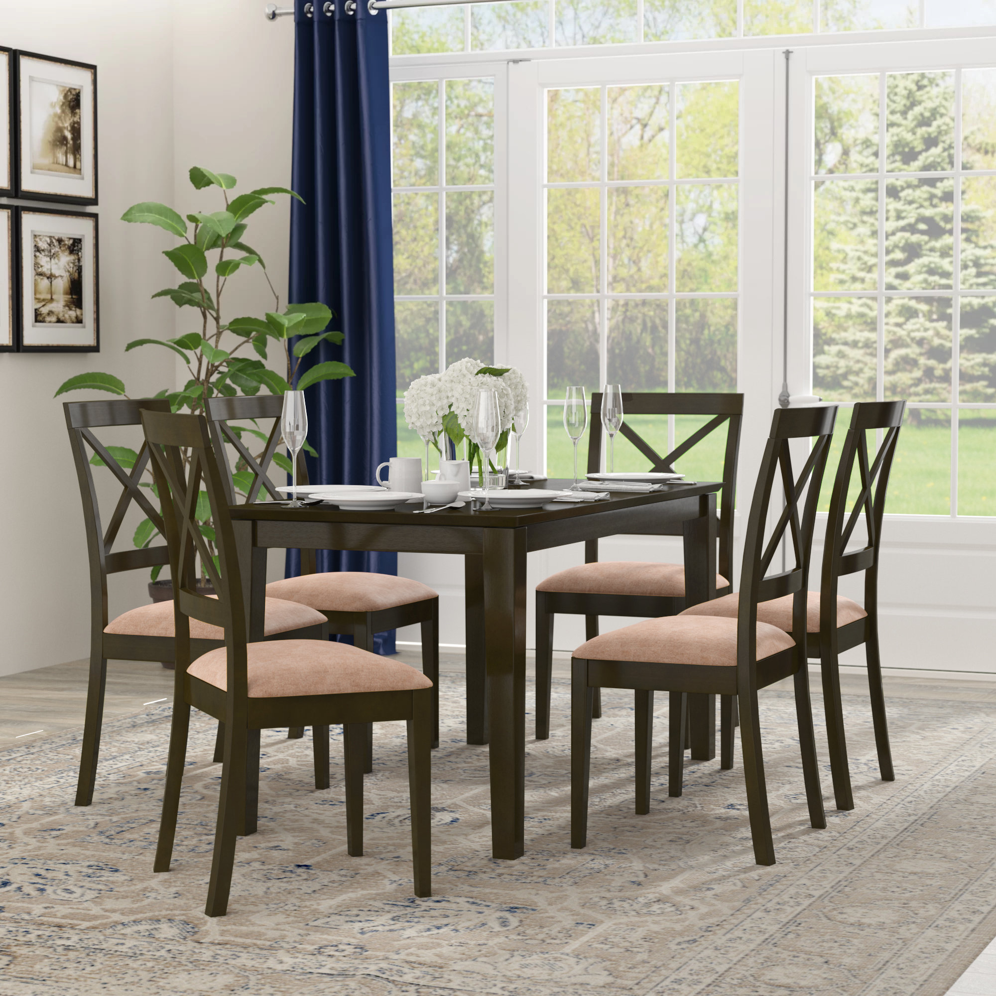 Smyrna Microfiber Upholstery 7 Piece Dining Set Within Most Recently Released Smyrna 3 Piece Dining Sets (View 3 of 20)