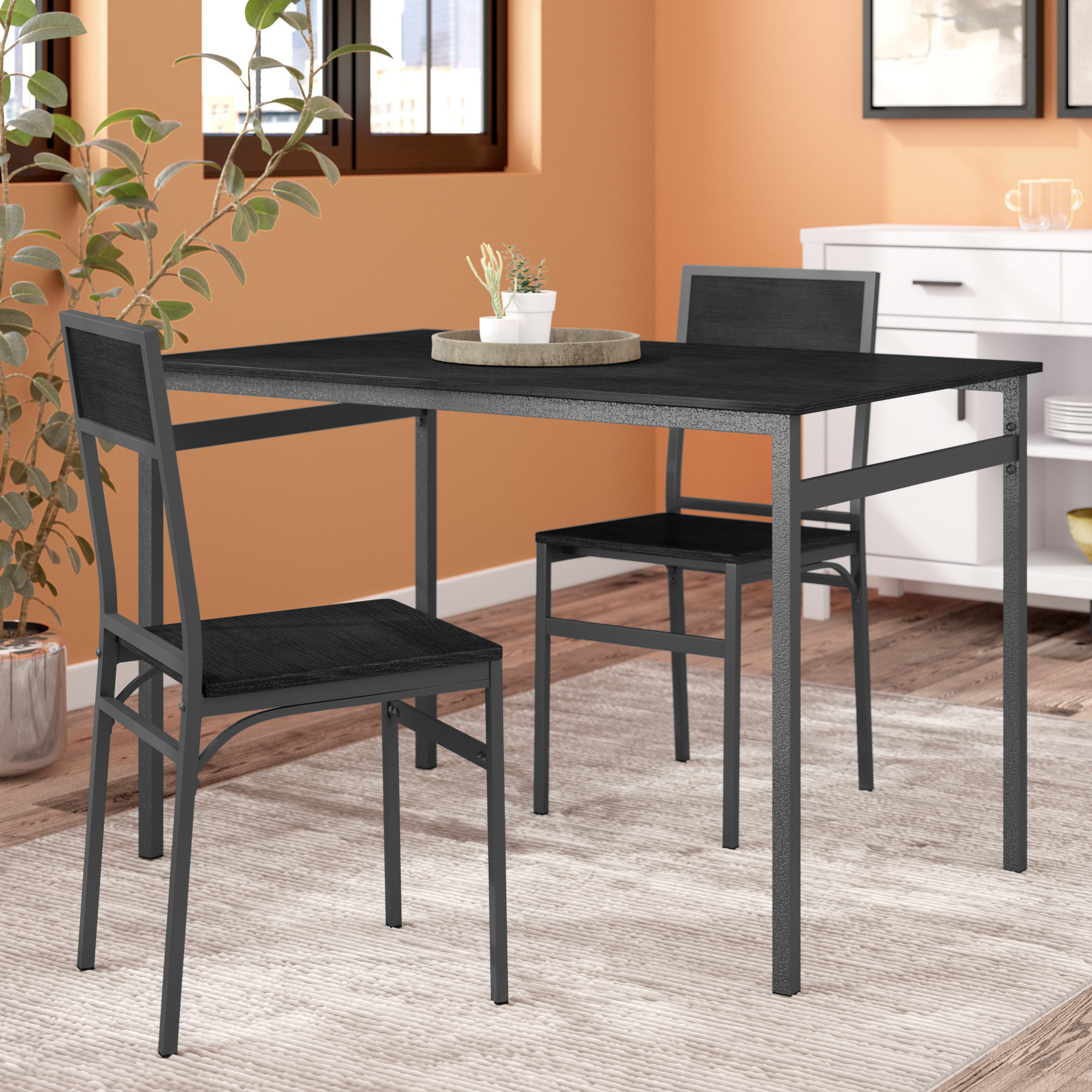 Springfield 3 Piece Dining Set In Current Baillie 3 Piece Dining Sets (Image 18 of 20)