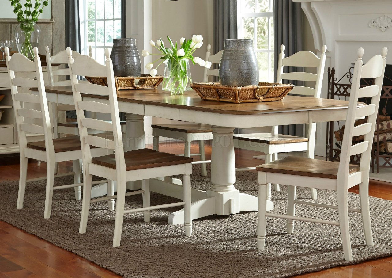 Springfield Dining 278 Cd Ps 7Pc Set In Honey & Creamliberty In Best And Newest Springfield 3 Piece Dining Sets (View 5 of 20)