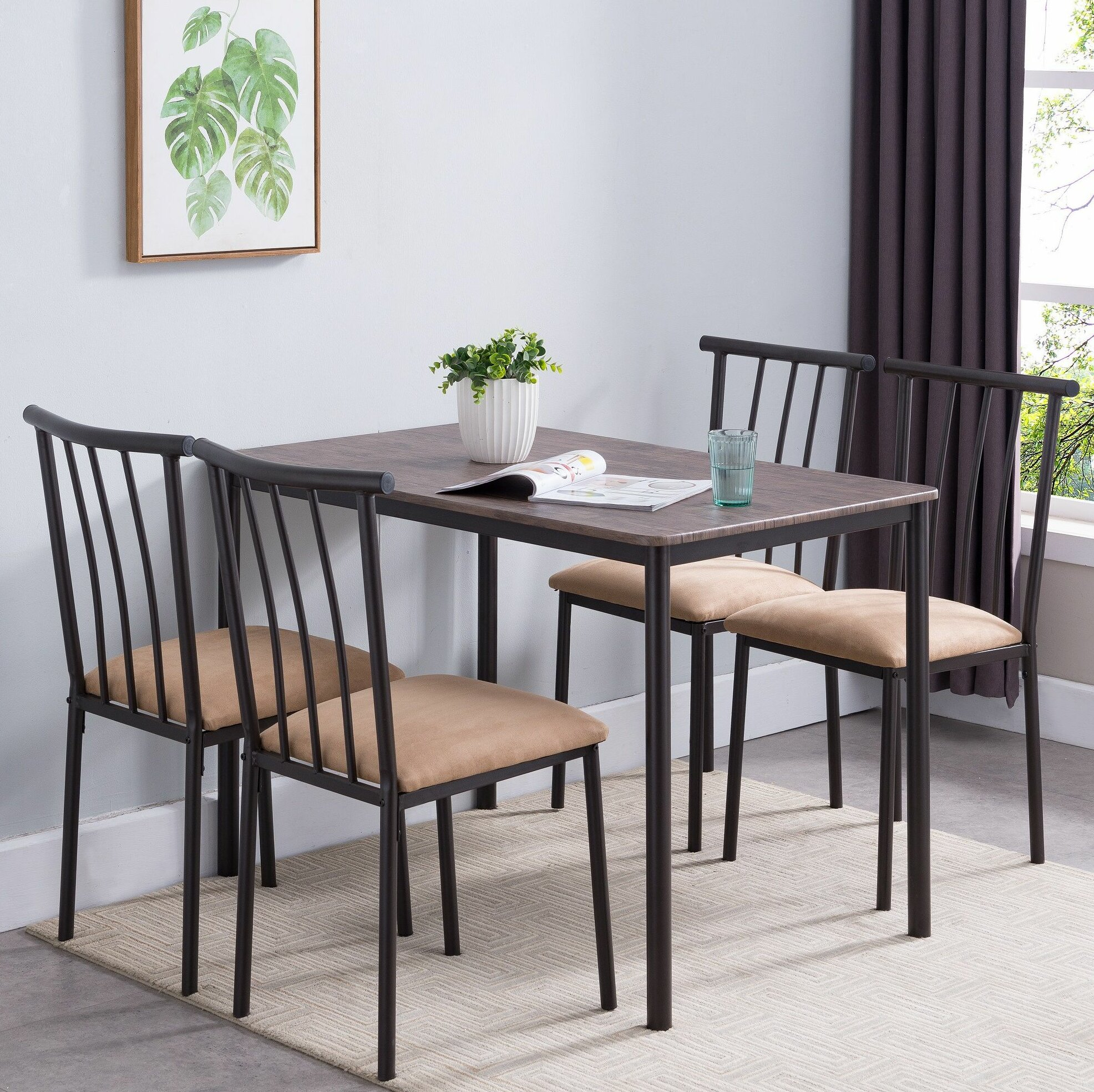 Stclair 5 Piece Dining Set Inside Best And Newest Casiano 5 Piece Dining Sets (View 10 of 20)