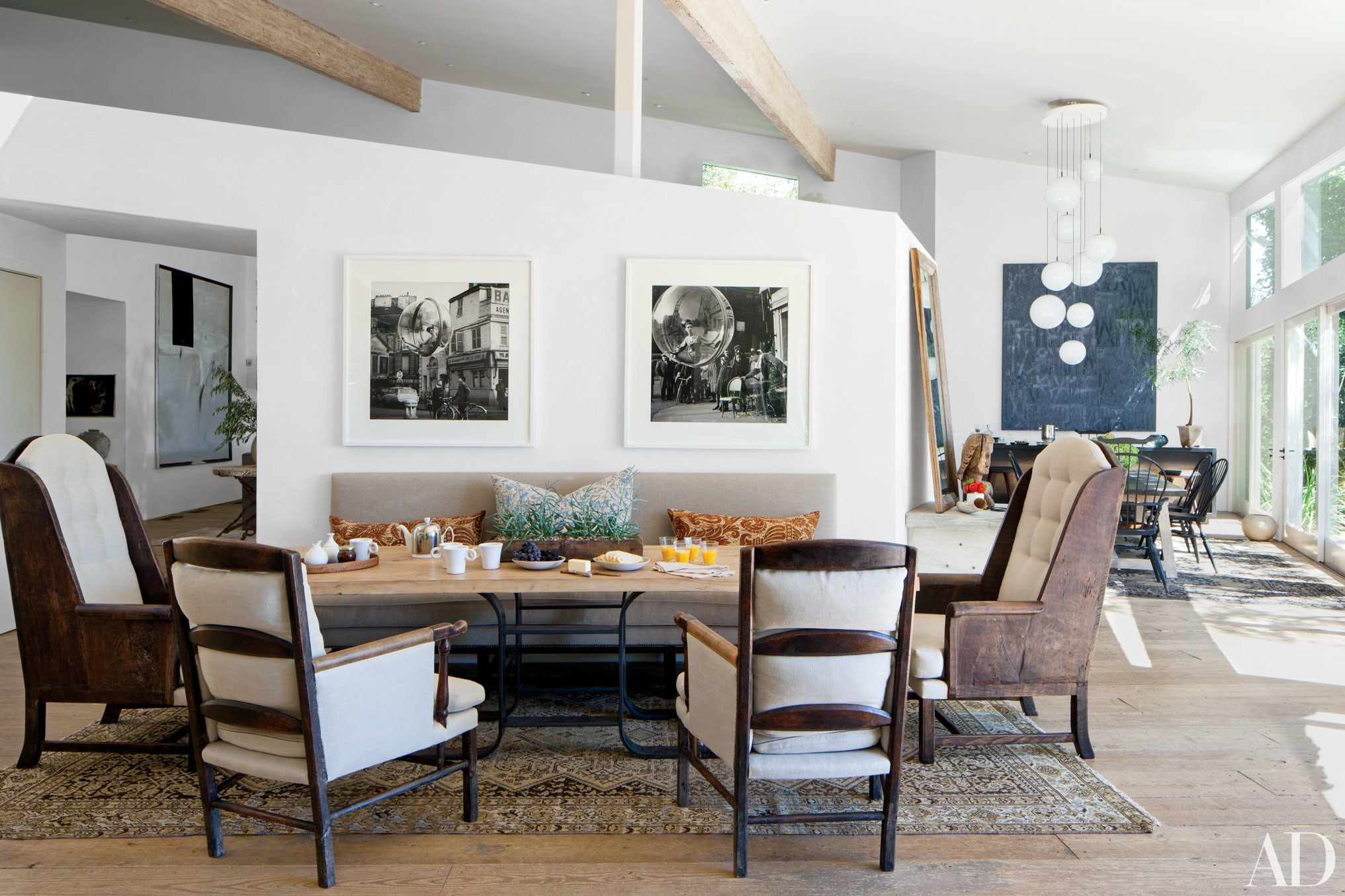 Step Inside 47 Celebrity Dining Rooms | Architectural Digest In Recent Rossi 5 Piece Dining Sets (Image 14 of 20)