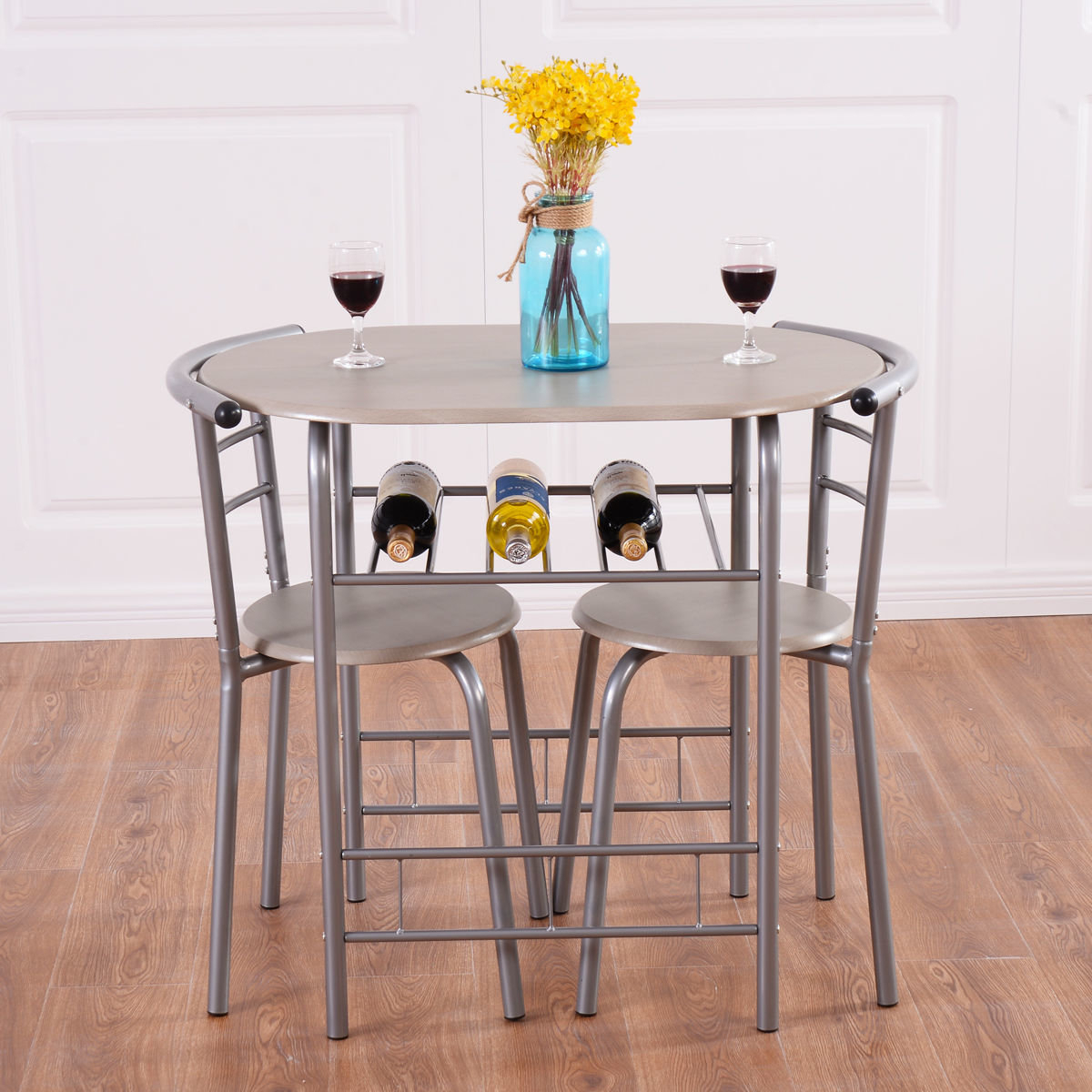Strock 3 Piece Dining Set For Most Popular Smyrna 3 Piece Dining Sets (View 4 of 20)