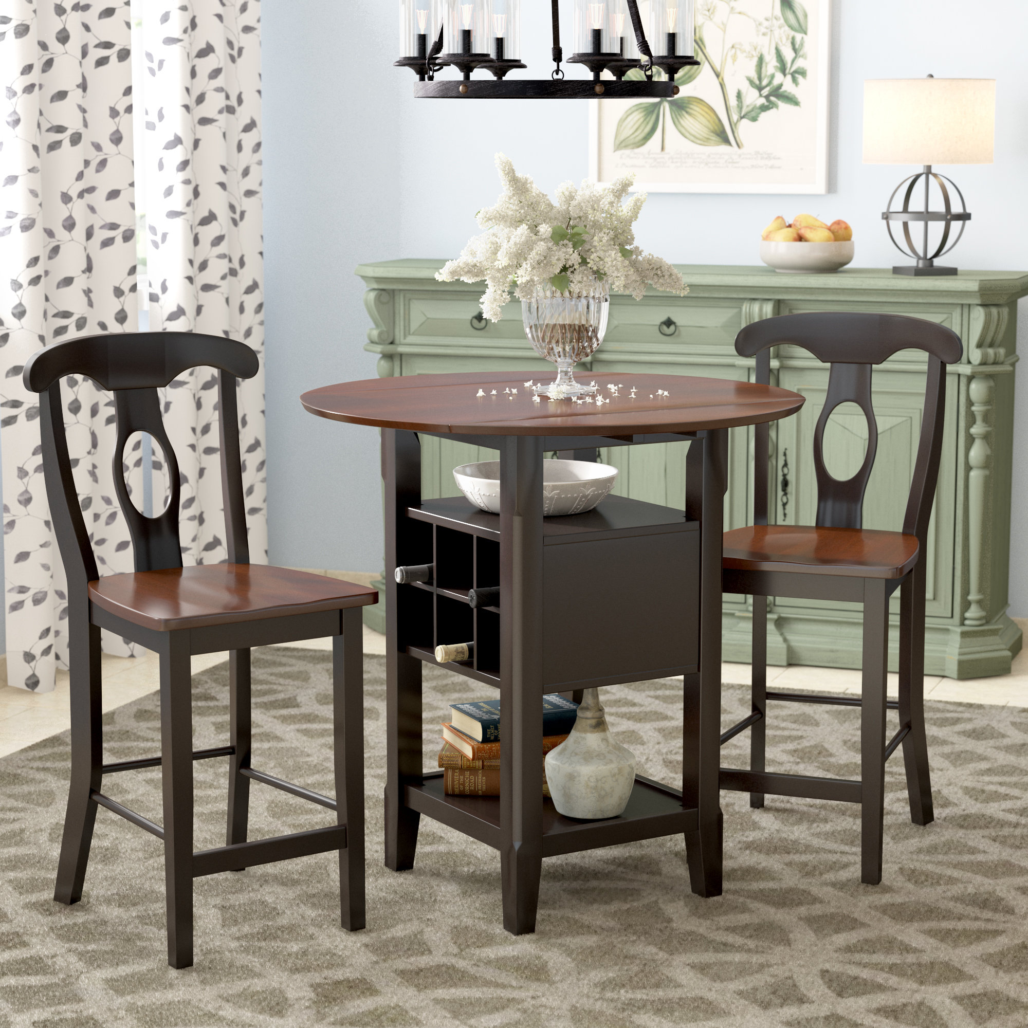 Strope 3 Piece Dining Set Pertaining To Newest 3 Piece Dining Sets (View 7 of 20)
