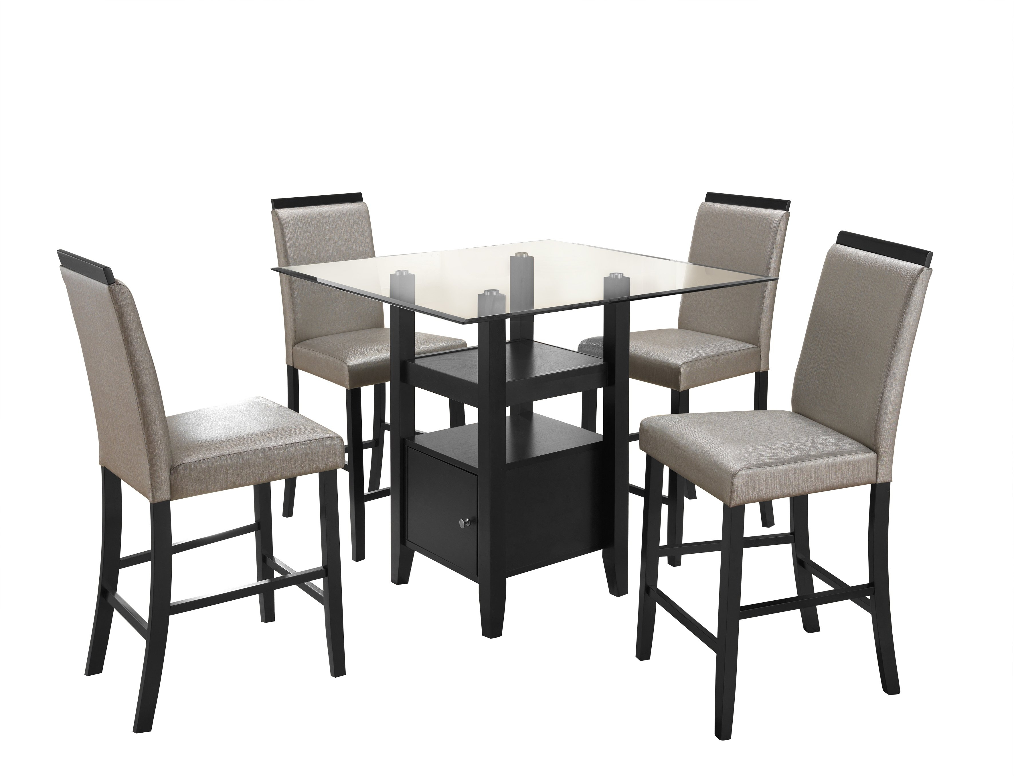 Stukes 5 Pieces Dining Set Within Most Current Noyes 5 Piece Dining Sets (View 13 of 20)