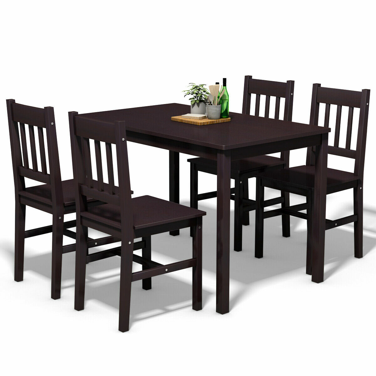 Sundberg 5 Piece Solid Wood Dining Set Within Most Up To Date Pattonsburg 5 Piece Dining Sets (View 6 of 20)