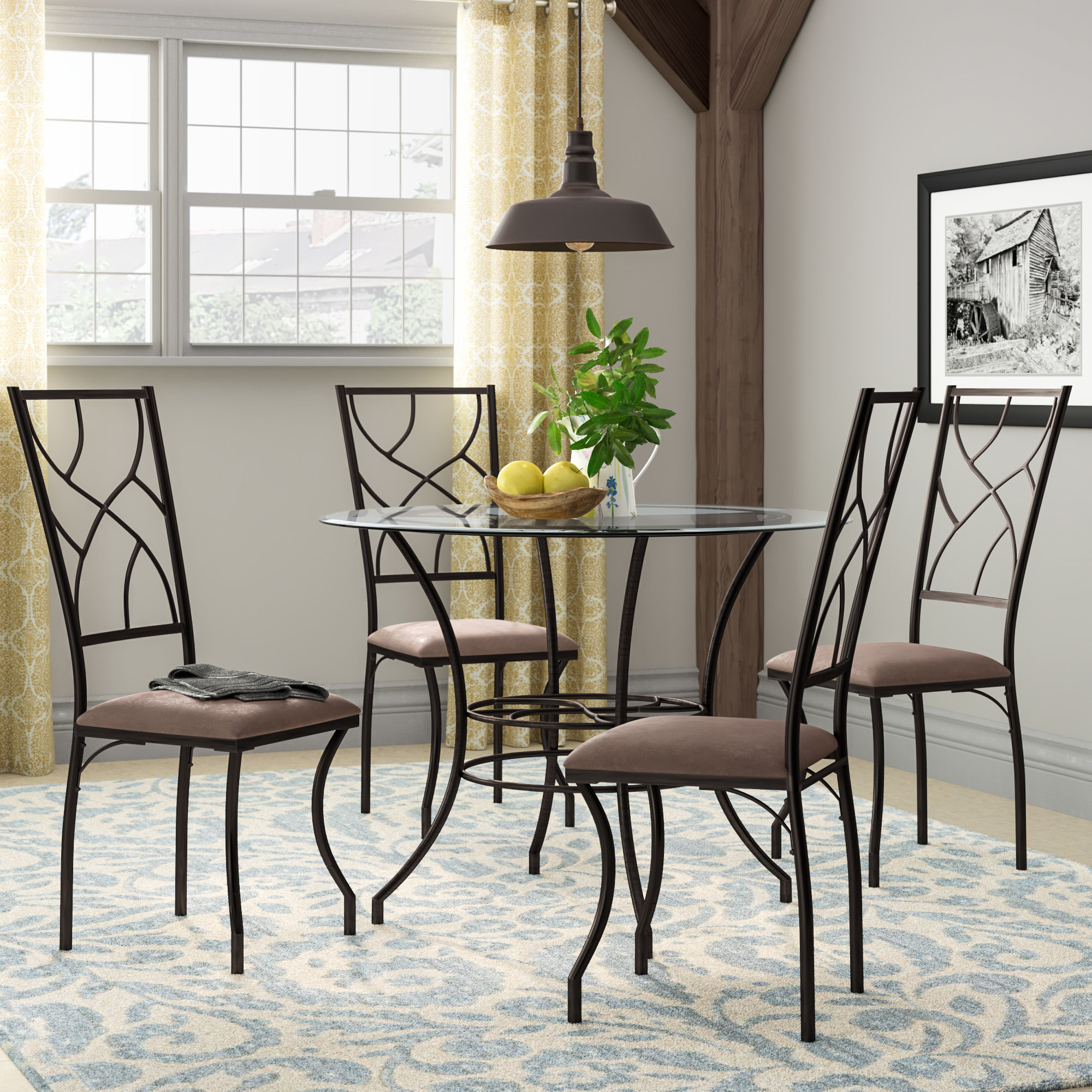 Suniga 5 Piece Dining Set With Most Popular Mulvey 5 Piece Dining Sets (View 7 of 20)