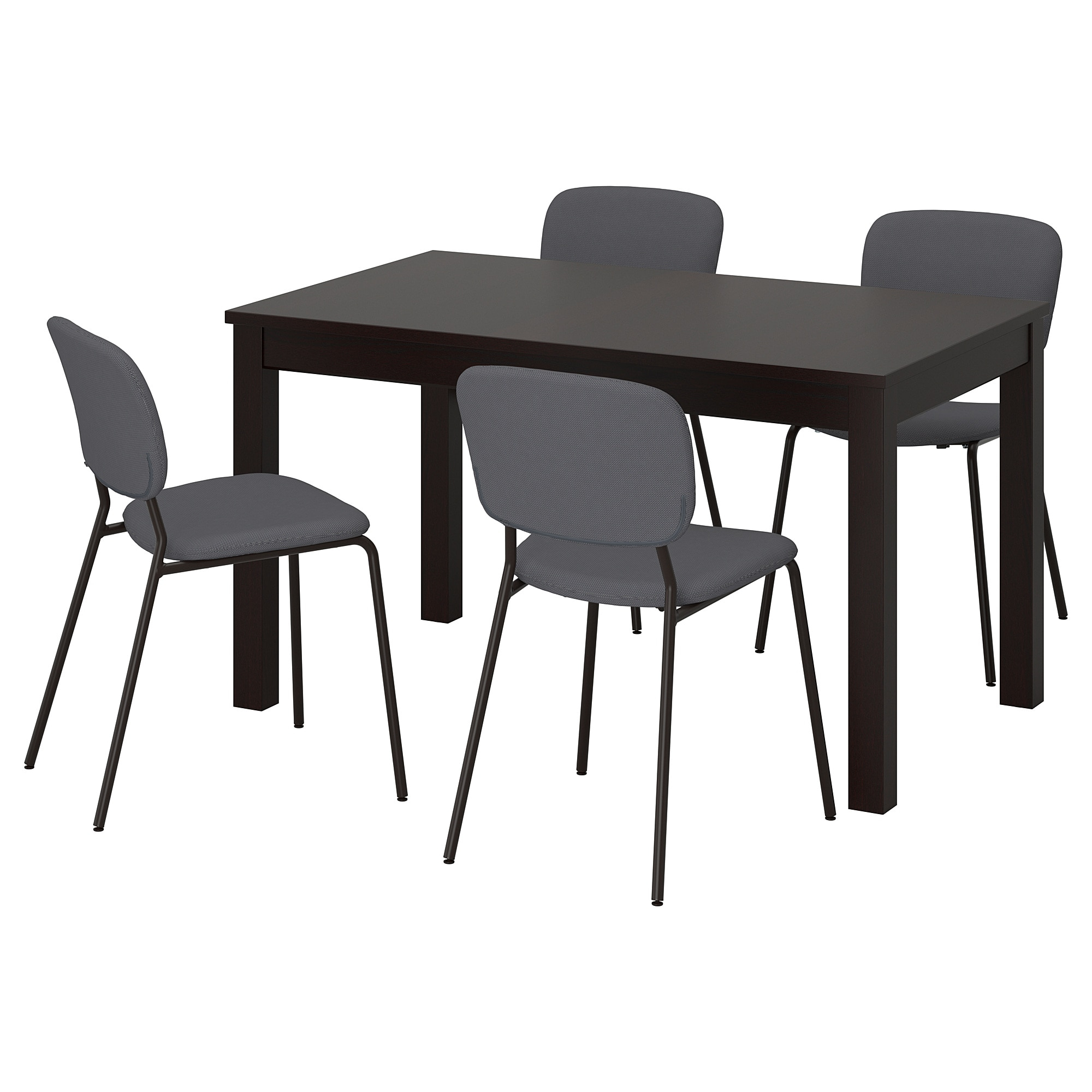 Table And 4 Chairs Laneberg / Karljan Brown, Dark Grey Dark Grey For 2017 Castellanos Modern 5 Piece Counter Height Dining Sets (Photo 18 of 20)
