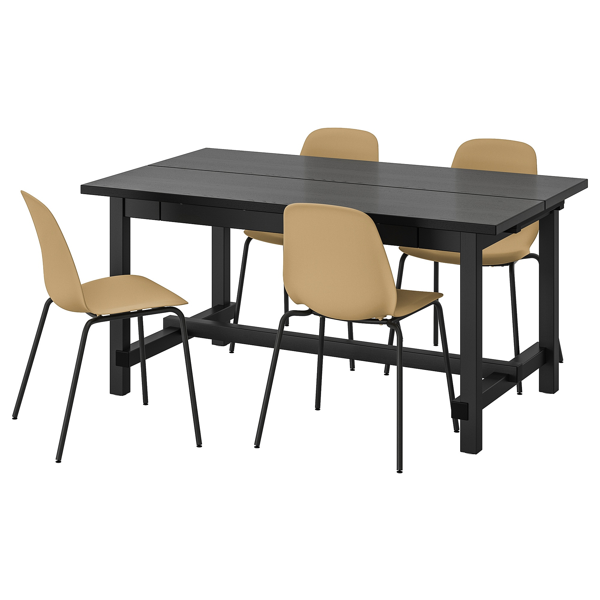 Table And 4 Chairs Nordviken / Leifarne Black, Broringe Black With Regard To 2017 Castellanos Modern 5 Piece Counter Height Dining Sets (Image 14 of 20)