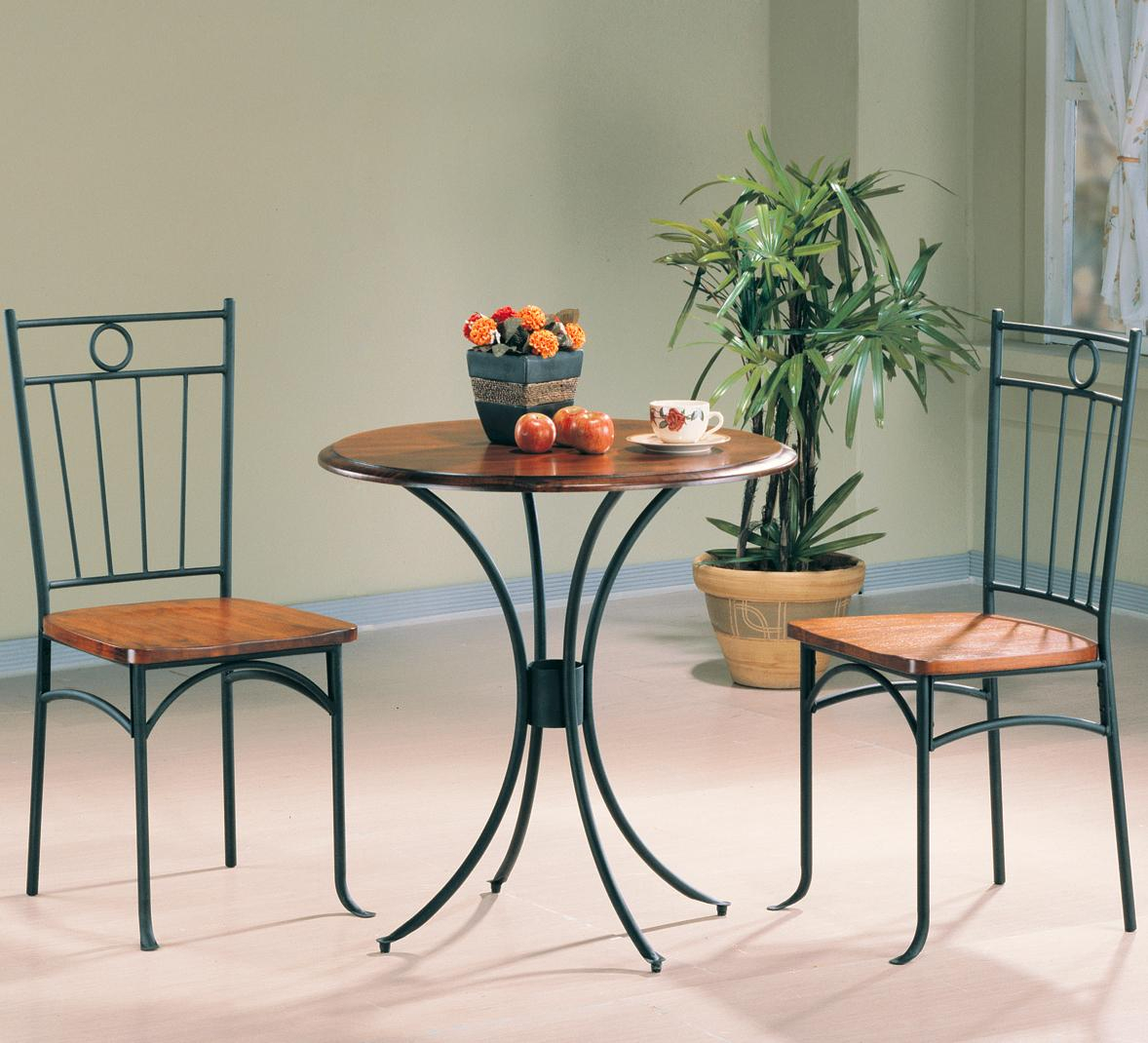 Tamiami 3 Piece Bistro Dining Setcoaster At Value City Furniture Intended For Most Current 3 Piece Dining Sets (View 14 of 20)