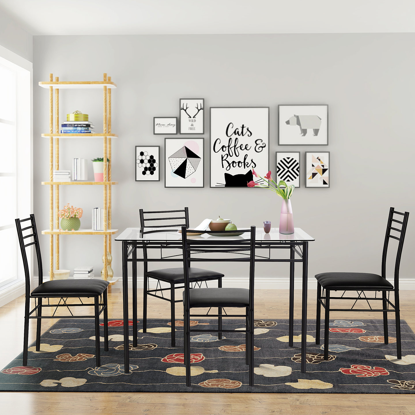 Taulbee 5 Piece Dining Set With 2018 Lightle 5 Piece Breakfast Nook Dining Sets (Image 20 of 20)