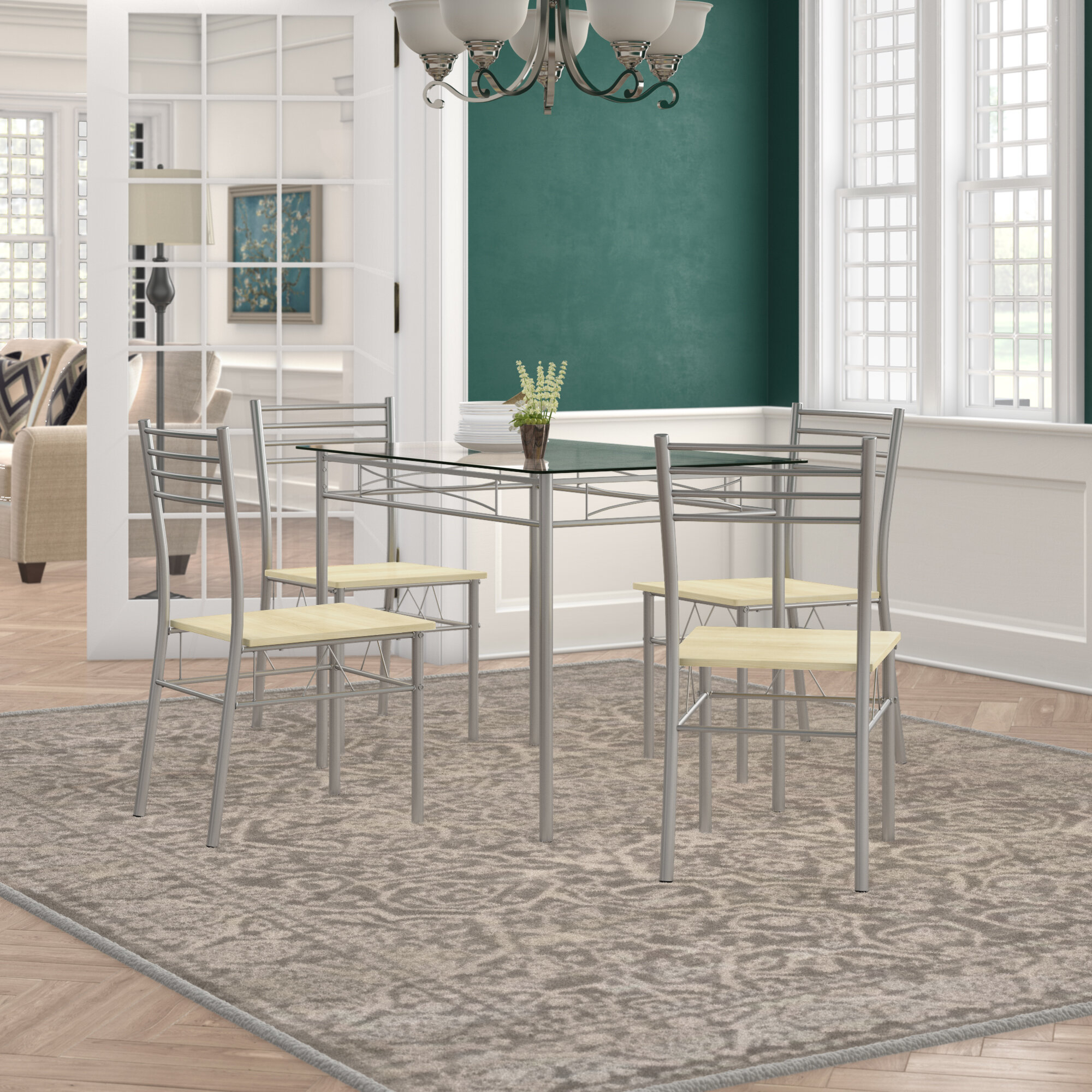 Tavarez 5 Piece Dining Set Throughout Most Popular Tavarez 5 Piece Dining Sets (Photo 1 of 20)