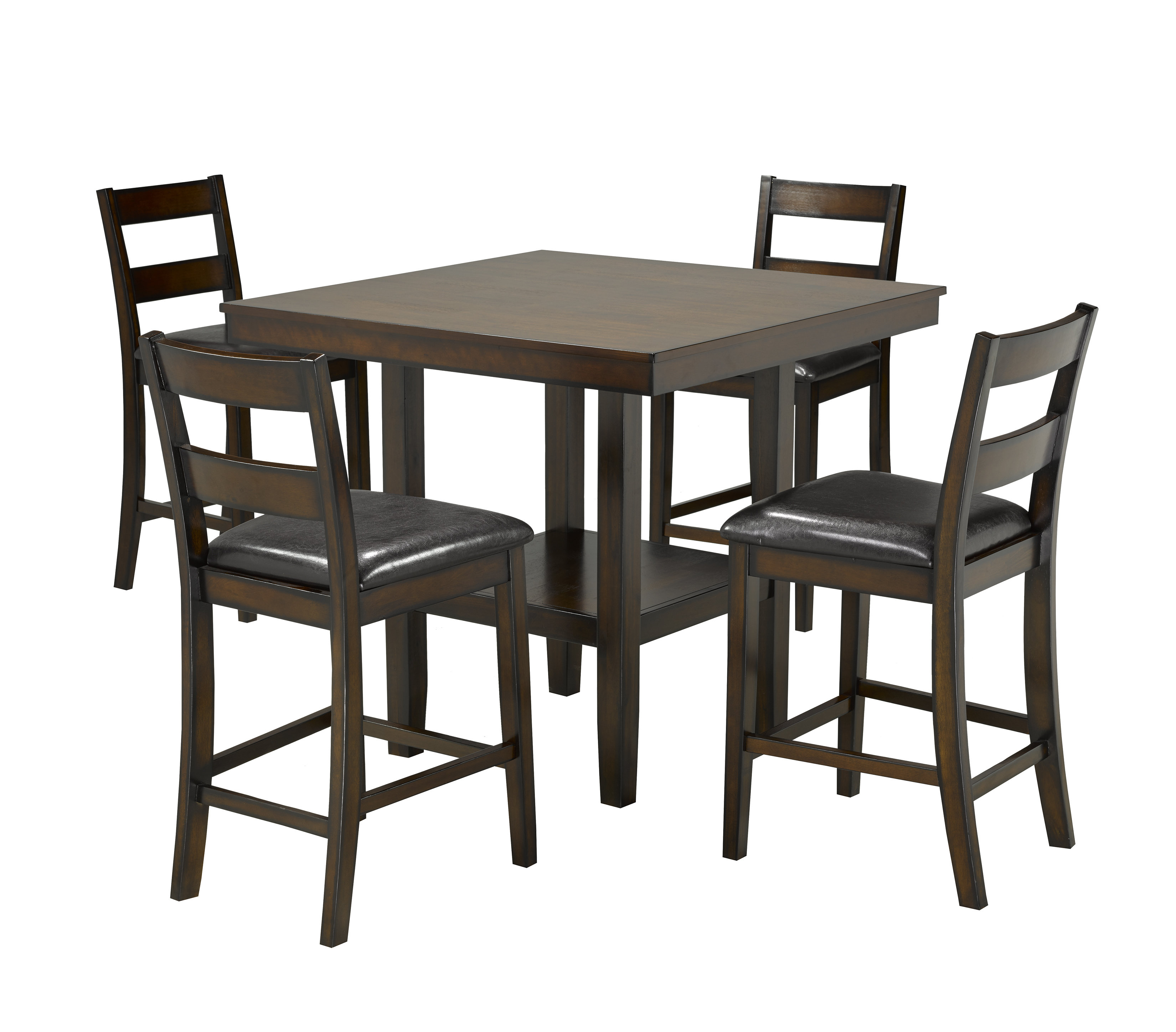 Tavarez 5 Piece Pub Set, Espresso Throughout 2018 Tavarez 5 Piece Dining Sets (Image 18 of 20)
