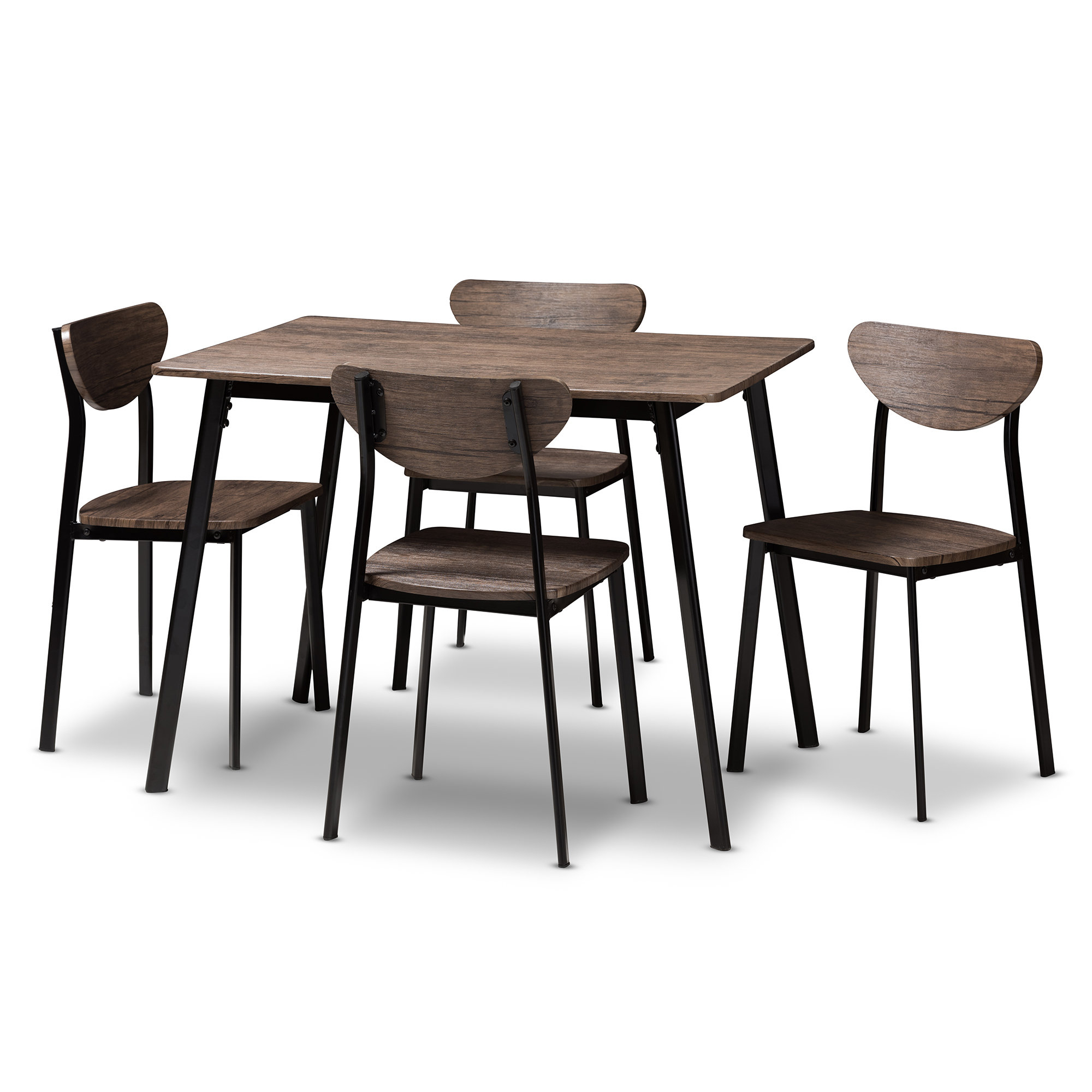 Tejeda 5 Piece Dining Set Regarding Newest Kinsler 3 Piece Bistro Sets (View 16 of 20)