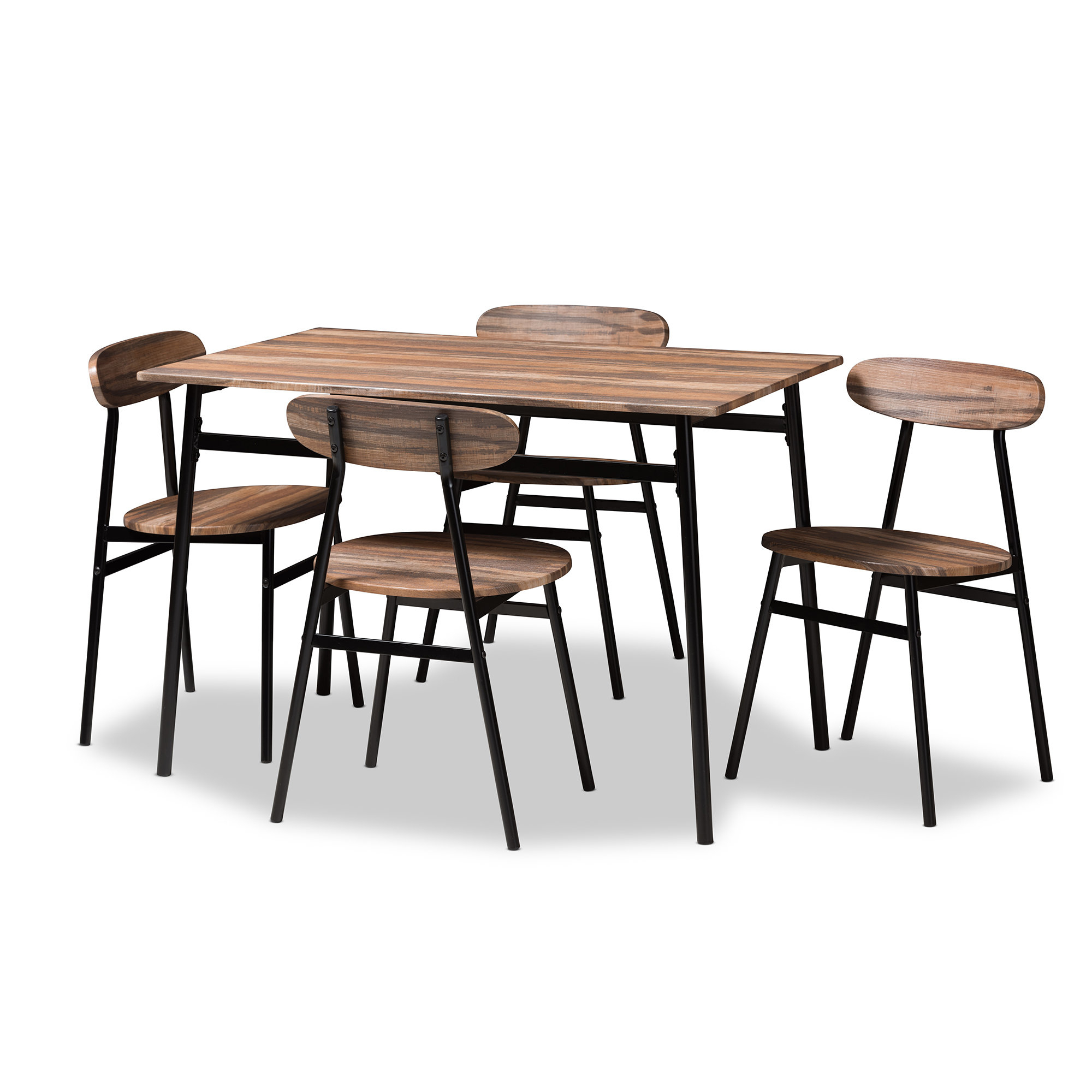 Telauges 5 Piece Dining Set Throughout Best And Newest Castellanos Modern 5 Piece Counter Height Dining Sets (Image 17 of 20)
