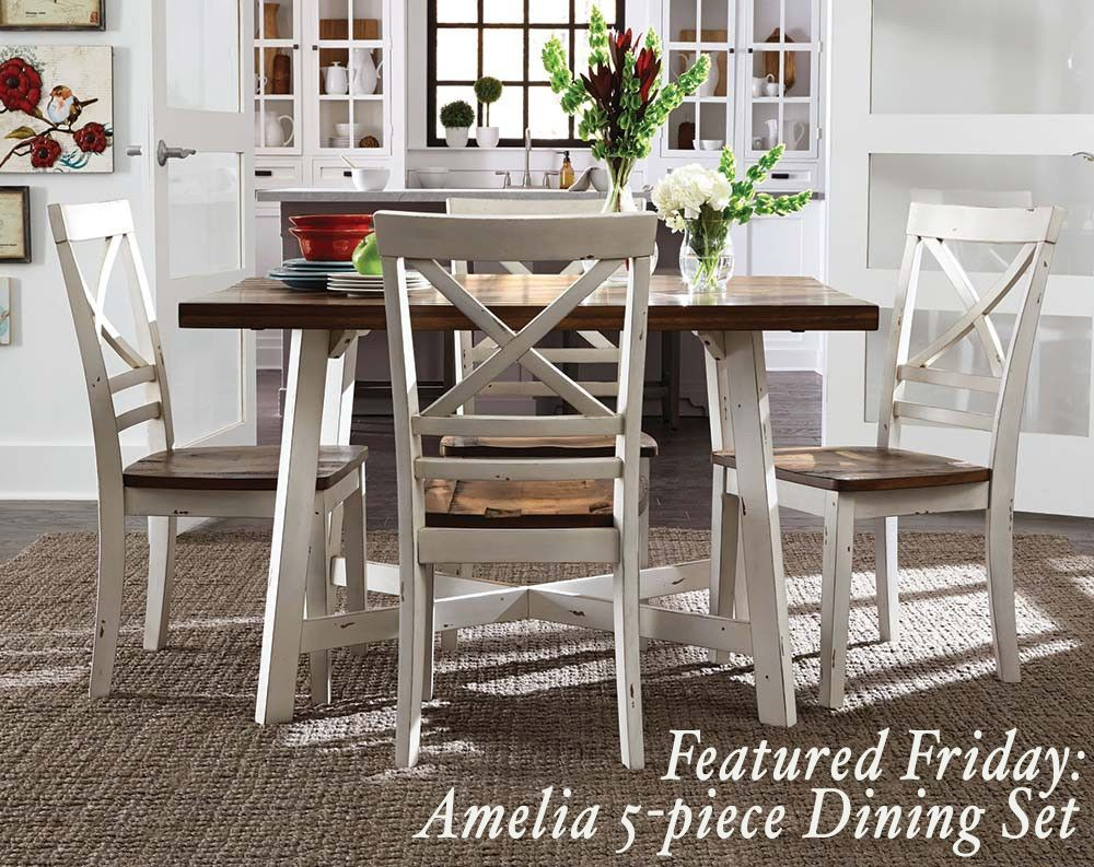 The Amelia 5 Piece Dining Set Is A Versatile Set With Smooth Clean For Latest Cargo 5 Piece Dining Sets (Photo 4 of 20)