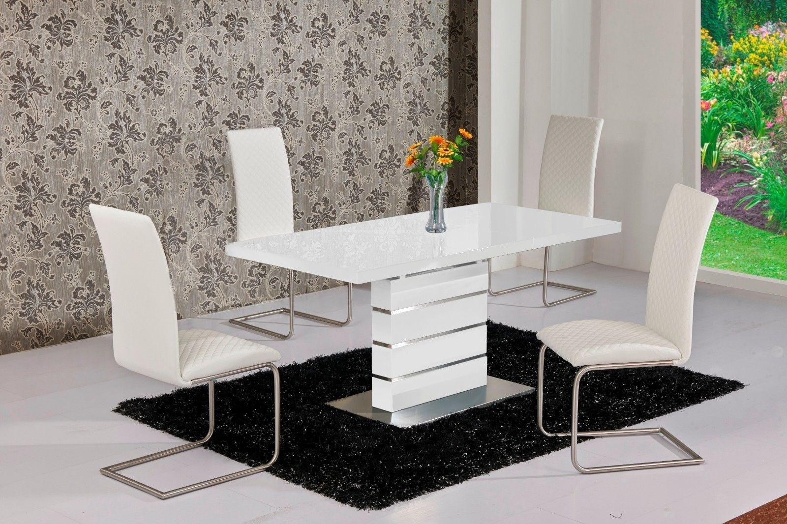 The Best Extended Dining Tables And Chairs Intended For Most Recently Released Pratiksha Sonoma 5 Piece Dining Sets (Image 18 of 20)