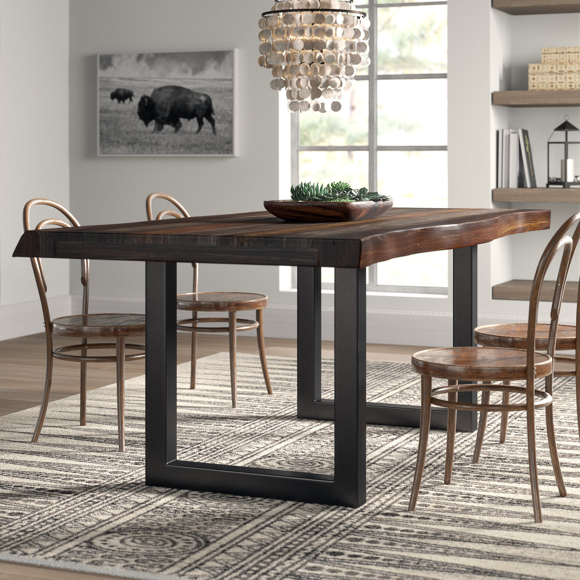 Thomasson Dining Table With Most Popular Anette 3 Piece Counter Height Dining Sets (View 10 of 20)