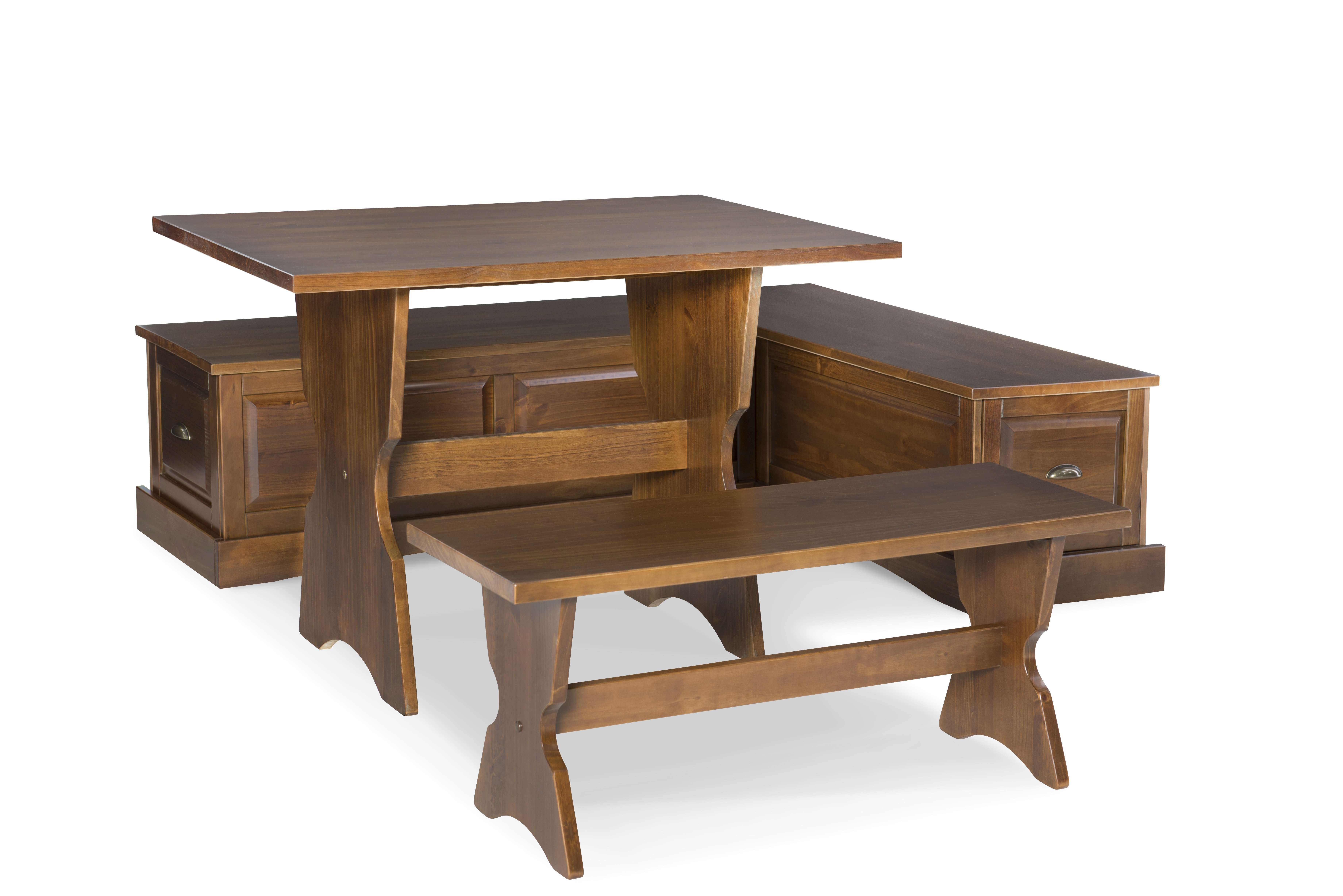 Three Posts Dearborn 3 Piece Breakfast Nook Dining Set With Most Recently Released 3 Piece Breakfast Nook Dinning Set (Photo 18 of 20)