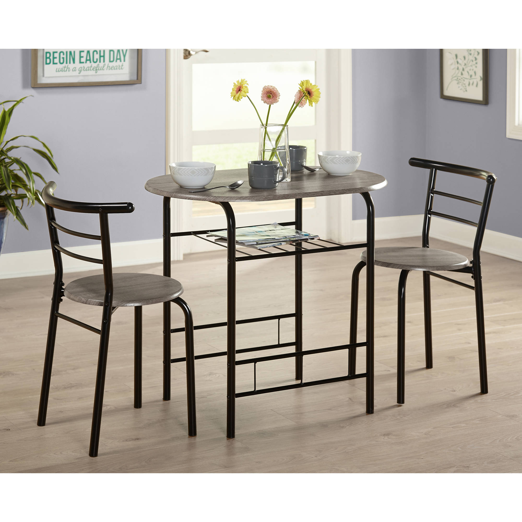 Tms 3 Piece Bistro Dining Set Throughout Current Rossiter 3 Piece Dining Sets (View 18 of 20)