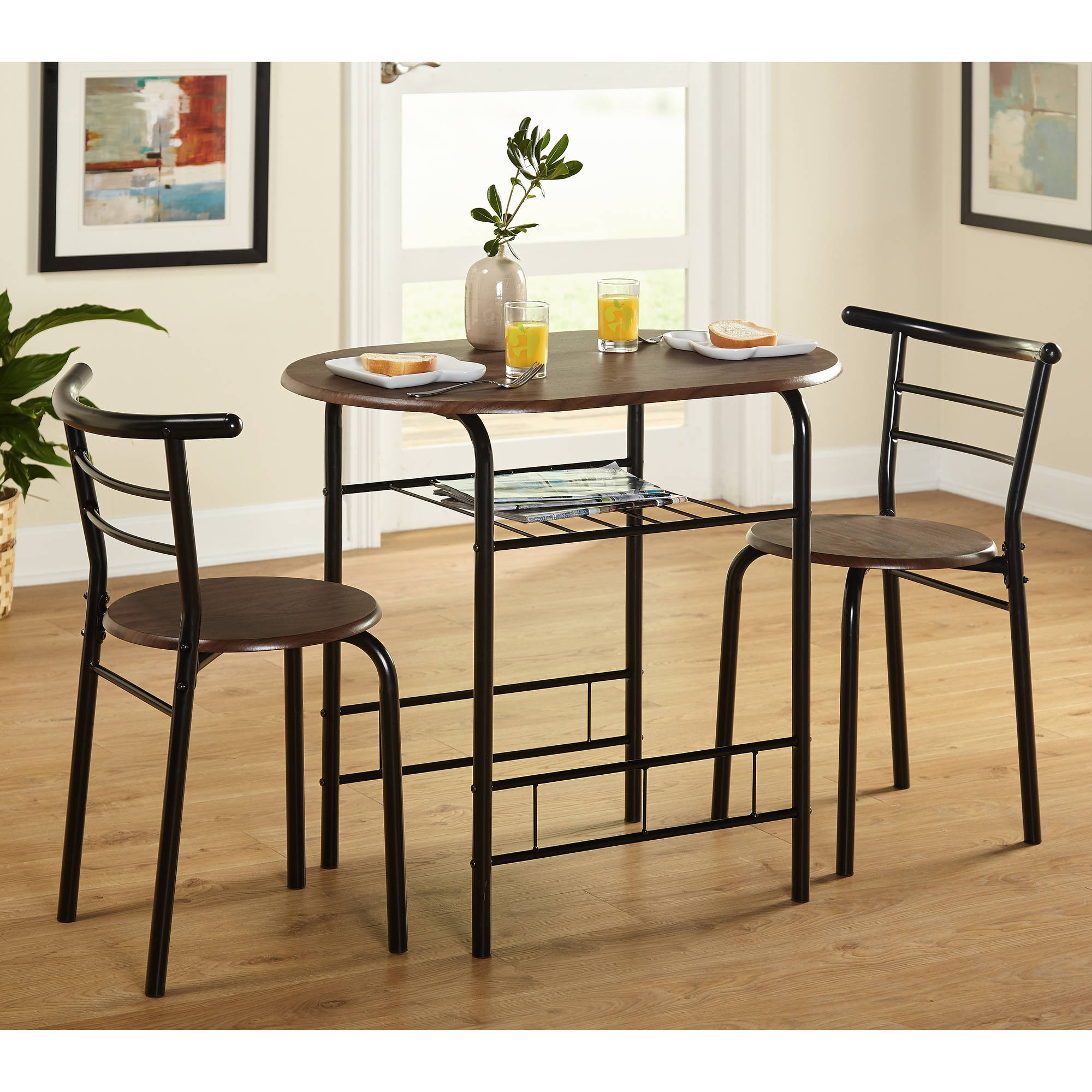 Tms 3 Piece Bistro Dining Set With Regard To Most Recent 3 Piece Dining Sets (View 6 of 20)