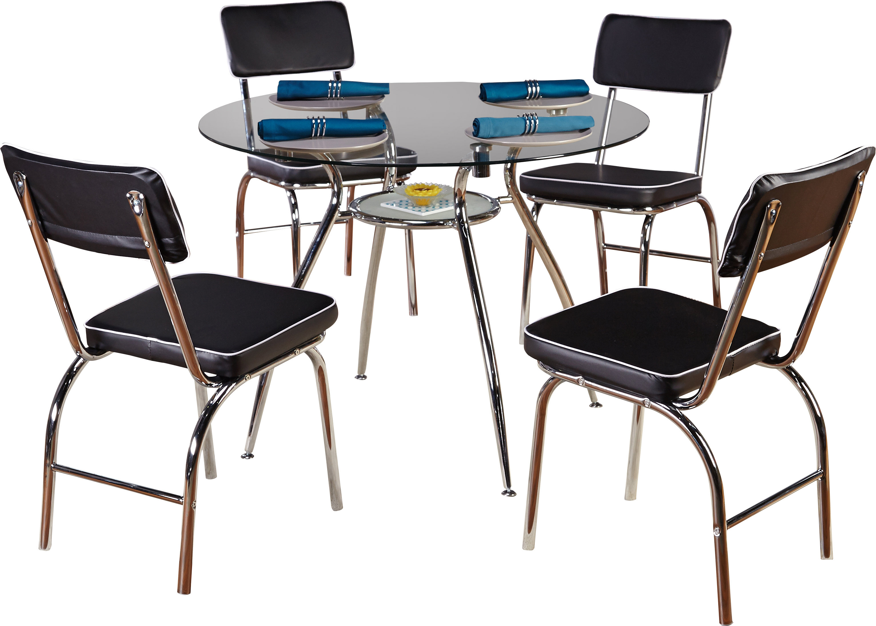 Tms Mable 5 Piece Dining Set Inside Best And Newest Bate Red Retro 3 Piece Dining Sets (View 20 of 20)