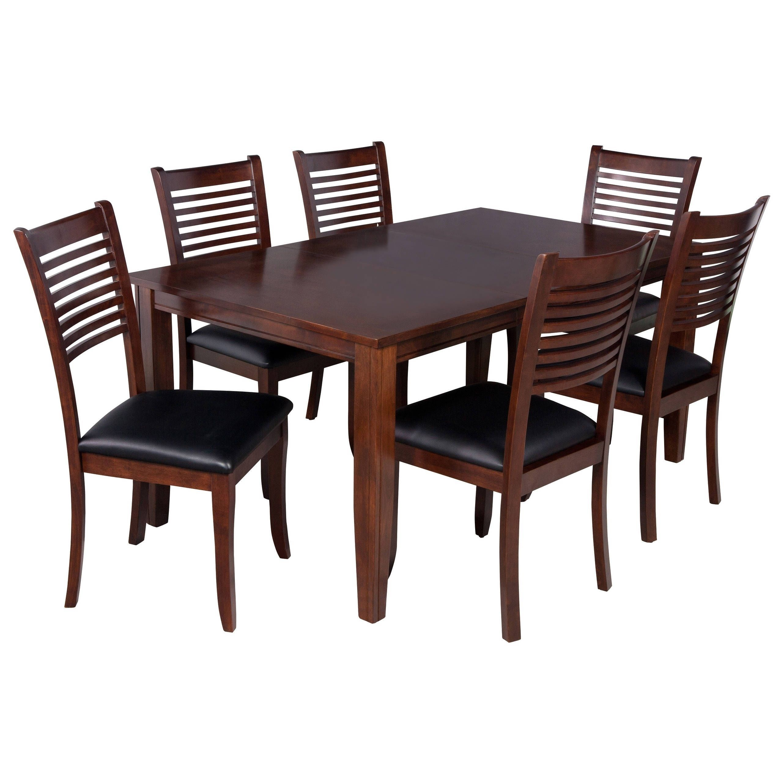 "Ttp Furnish 7 Piece Solid Wood Dining Set ""aden"", Modern Kitchen Pertaining To Newest Adan 5 Piece Solid Wood Dining Sets (Set Of 5) (Image 16 of 20)"
