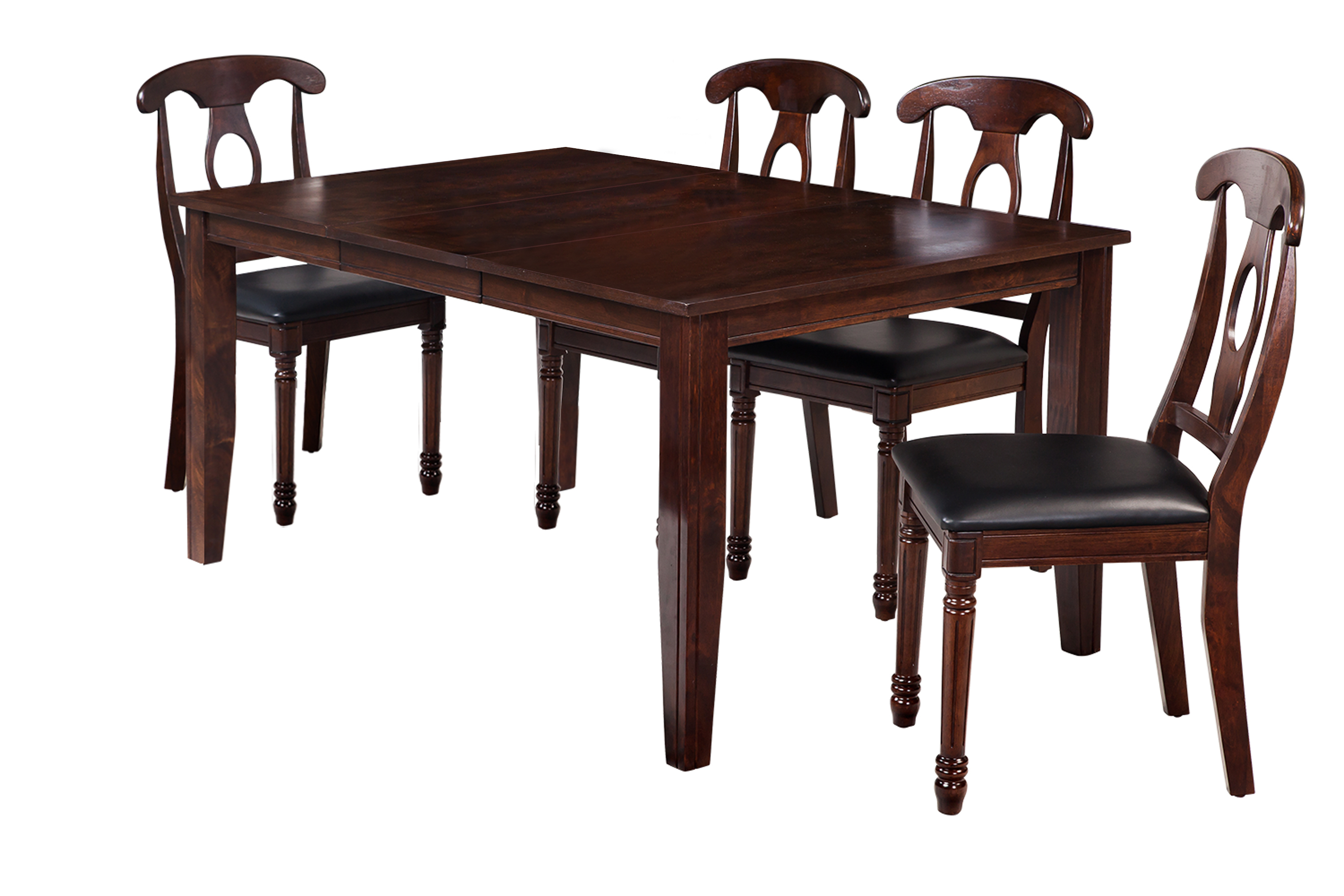 Ttp Furnish In Most Current Adan 5 Piece Solid Wood Dining Sets (Set Of 5) (Image 18 of 20)