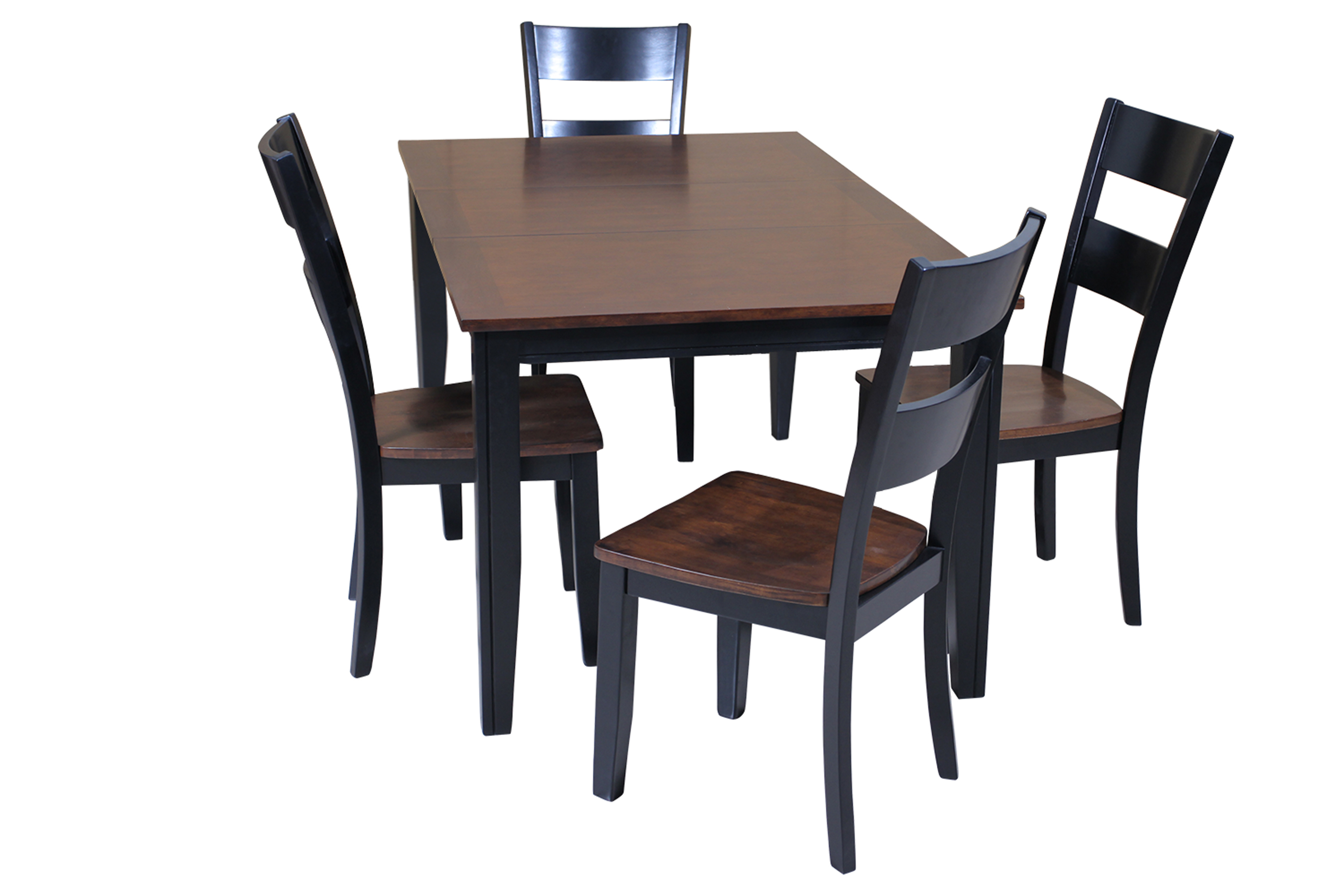 Ttp Furnish With 2017 Adan 5 Piece Solid Wood Dining Sets (Set Of 5) (Image 20 of 20)
