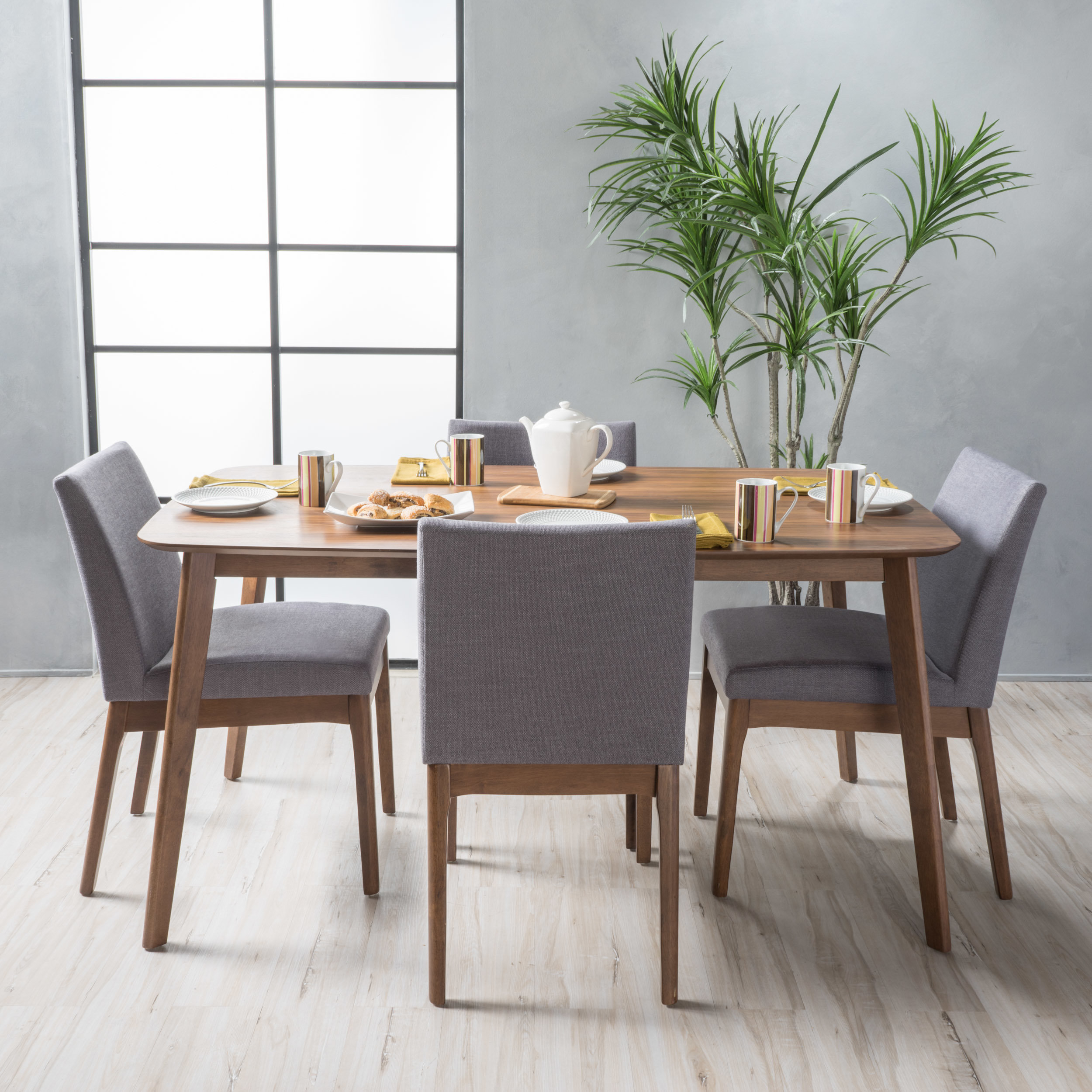 Tunis 5 Piece Dining Set For Most Current Kerley 4 Piece Dining Sets (Image 17 of 20)