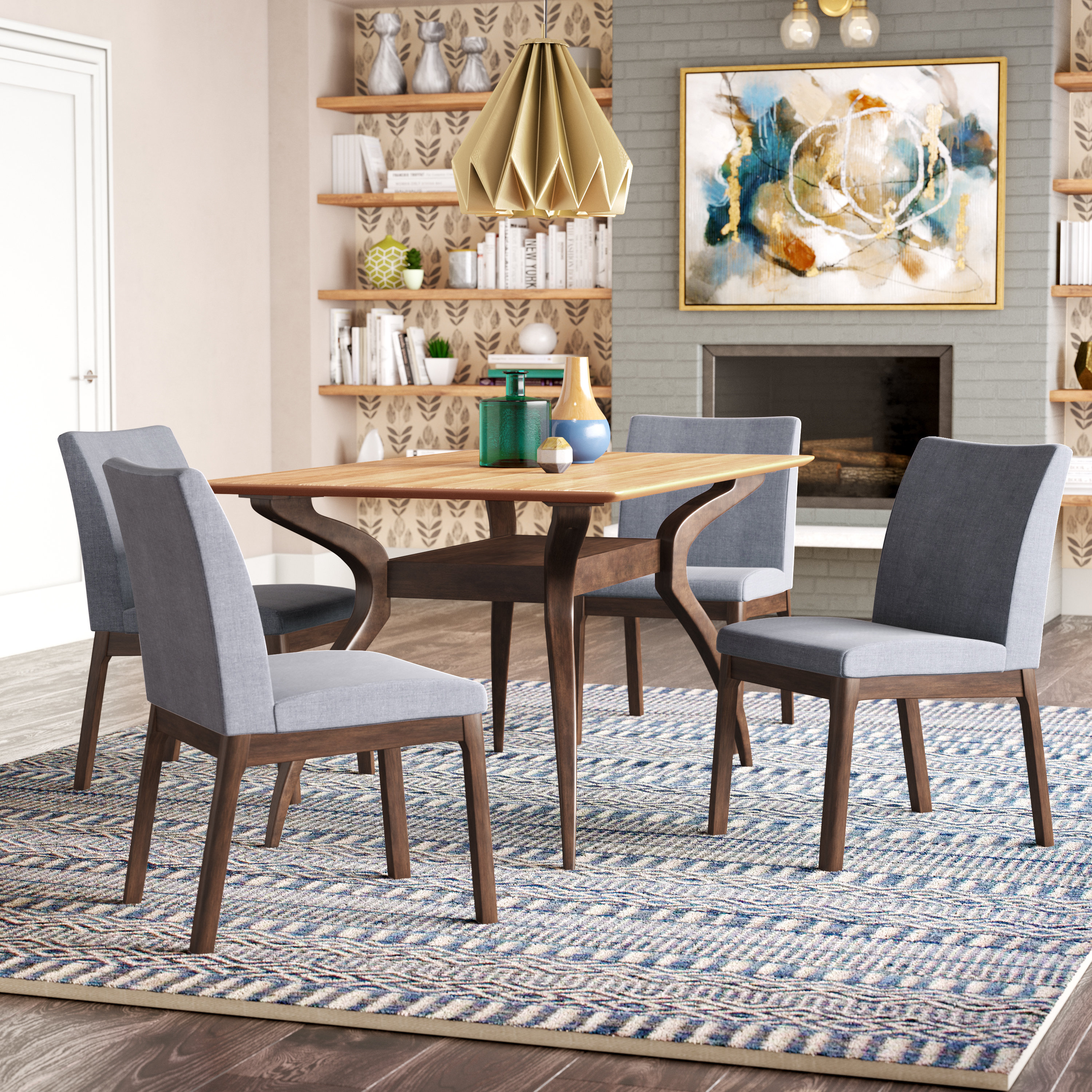 Tunis 5 Piece Dining Set Pertaining To Latest Liles 5 Piece Breakfast Nook Dining Sets (Image 19 of 20)